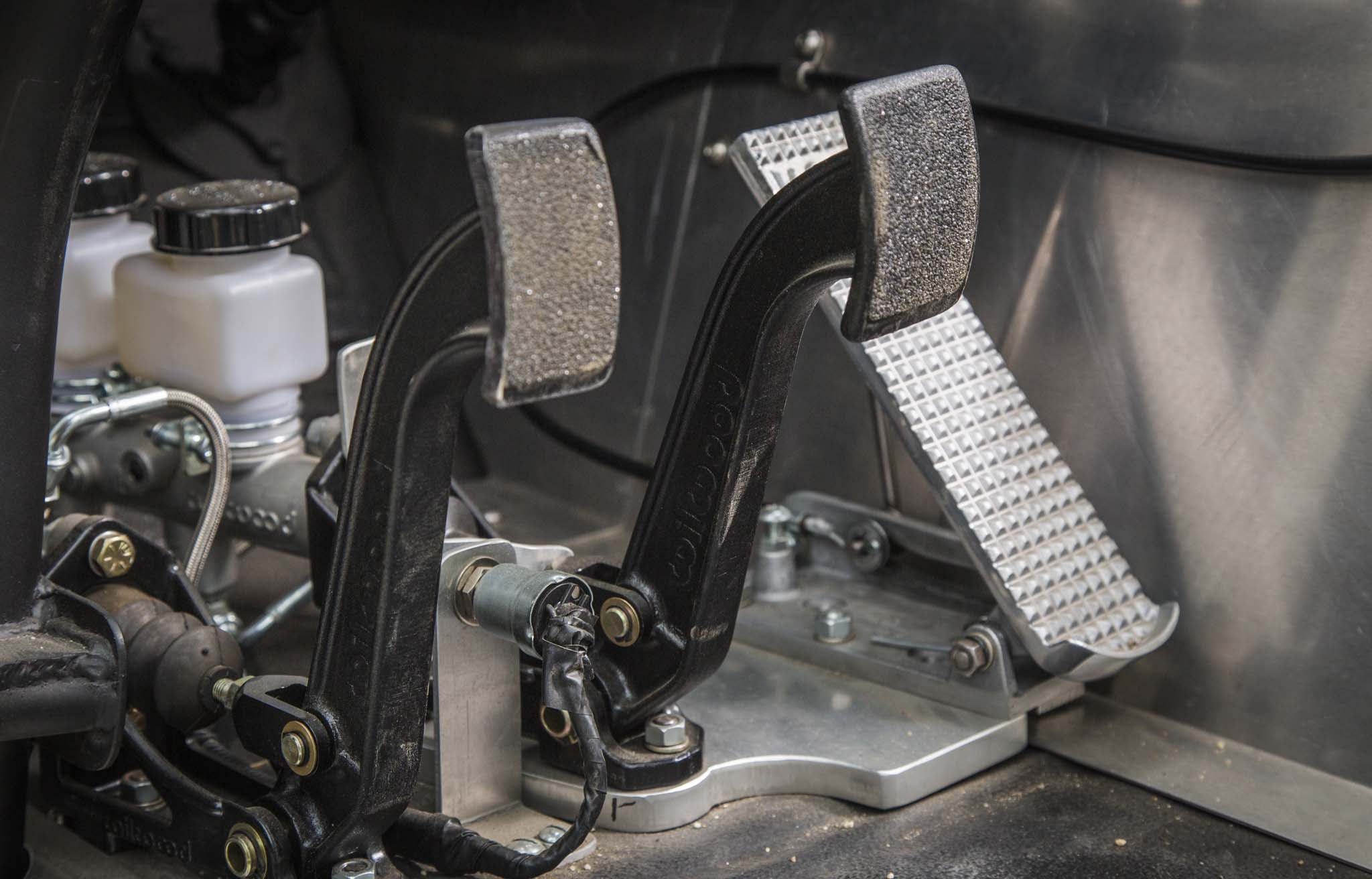 After sitting in his garage for years, the Chevy needed a freshening, which Ernie undertook about five years ago. Not much was needed to bring it back, he says; Wilwood pedals and reservoirs are among the late additions, done in addition to the clutch.
