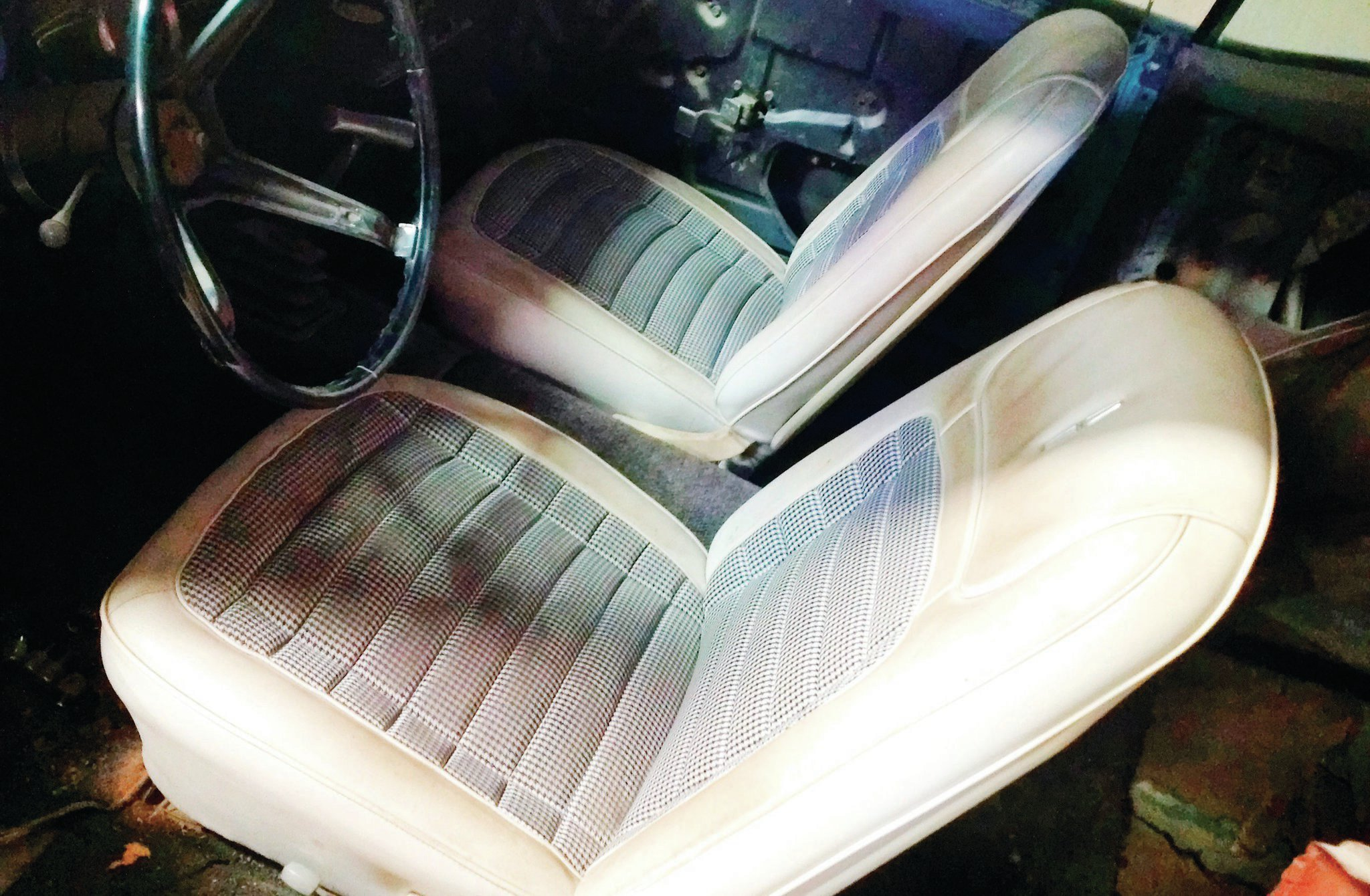 Mark Helm was elated with the deluxe white Houndstooth interior, very rare on a 1968 model.