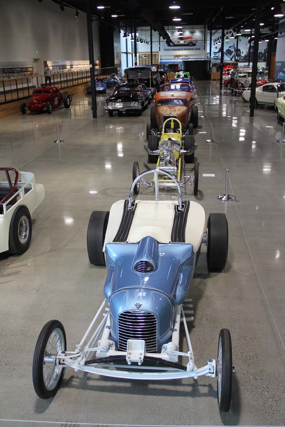 Though still being finalized when HOT ROD visited, this is the main display area that will initially feature drag-racing-related cars. The space will rotate vehicles from different forms of racing, including boats and planes. The museum's lineup of future installations is impressive.