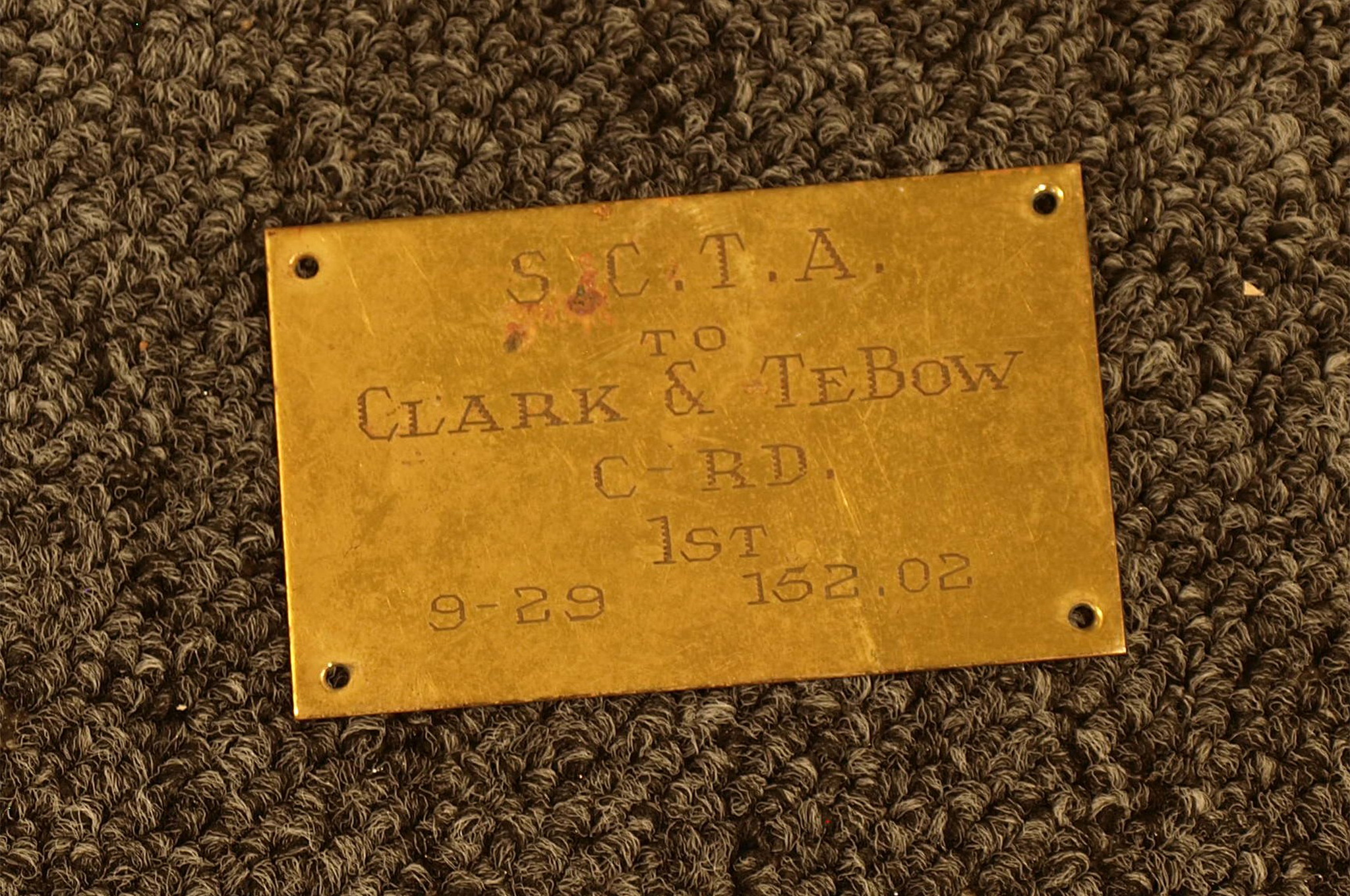 TeBow was crowding 100 mph in 1949 with homebrewed hot rods. This SCTA tag (showing no signs of ever being mounted) was found casually tossed into a drawer. Was TeBow embarrassed at missing the 100-mph mark by such a margin? Perhaps, but it's more likely that TeBow saw timing tags as bragging.