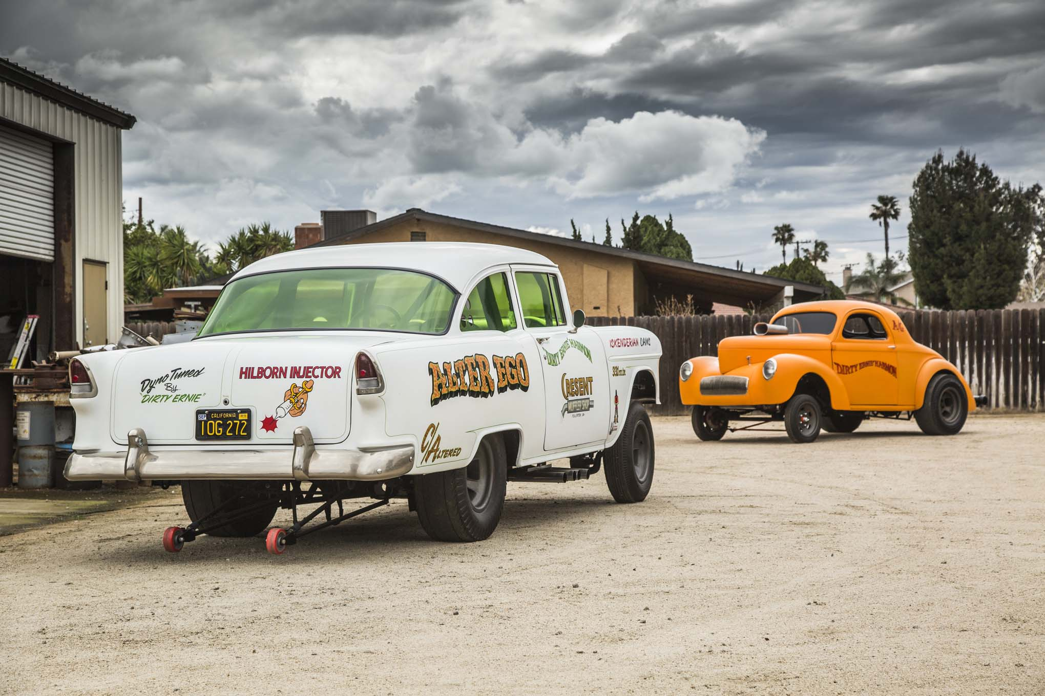 Ernie Harmon built his two gassers 50 years apart, the Chevy when he was a teenager and the Willys just a year or so ago. Both exhibit the handiwork of a man dedicated to his craft.