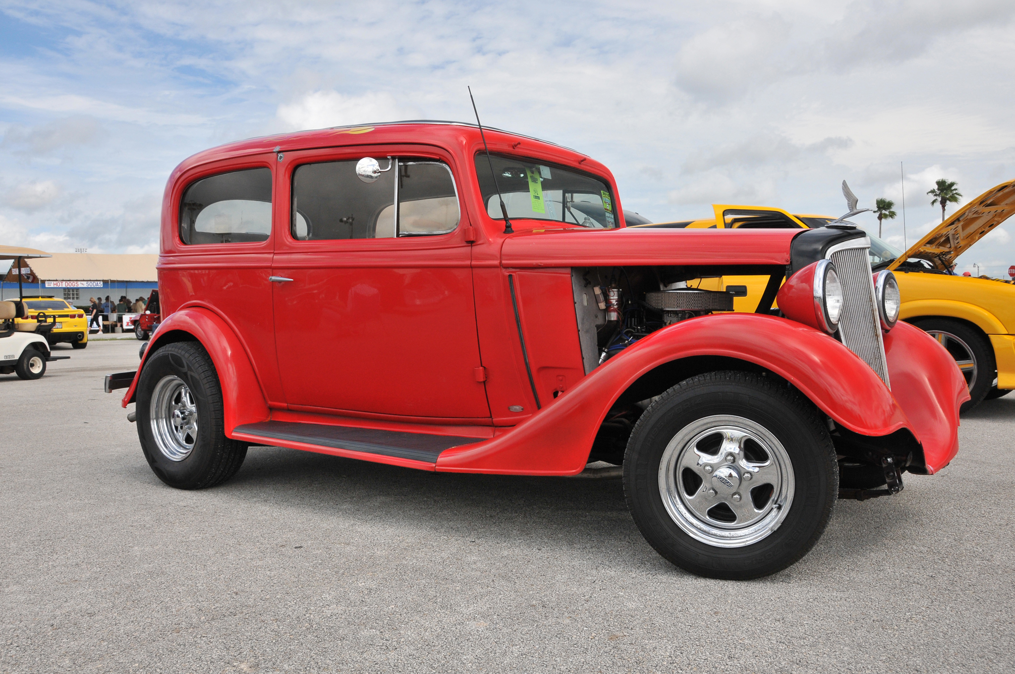 2015 26th Annual Daytona Spring Turkey Run Car Show Hot Rod Network Chevy 327 Power Steering Ckets Stuff With A 350 Train Nestled Under The Tilt Hood Along Disc Brakes And An Air Conditioned Leather Interior