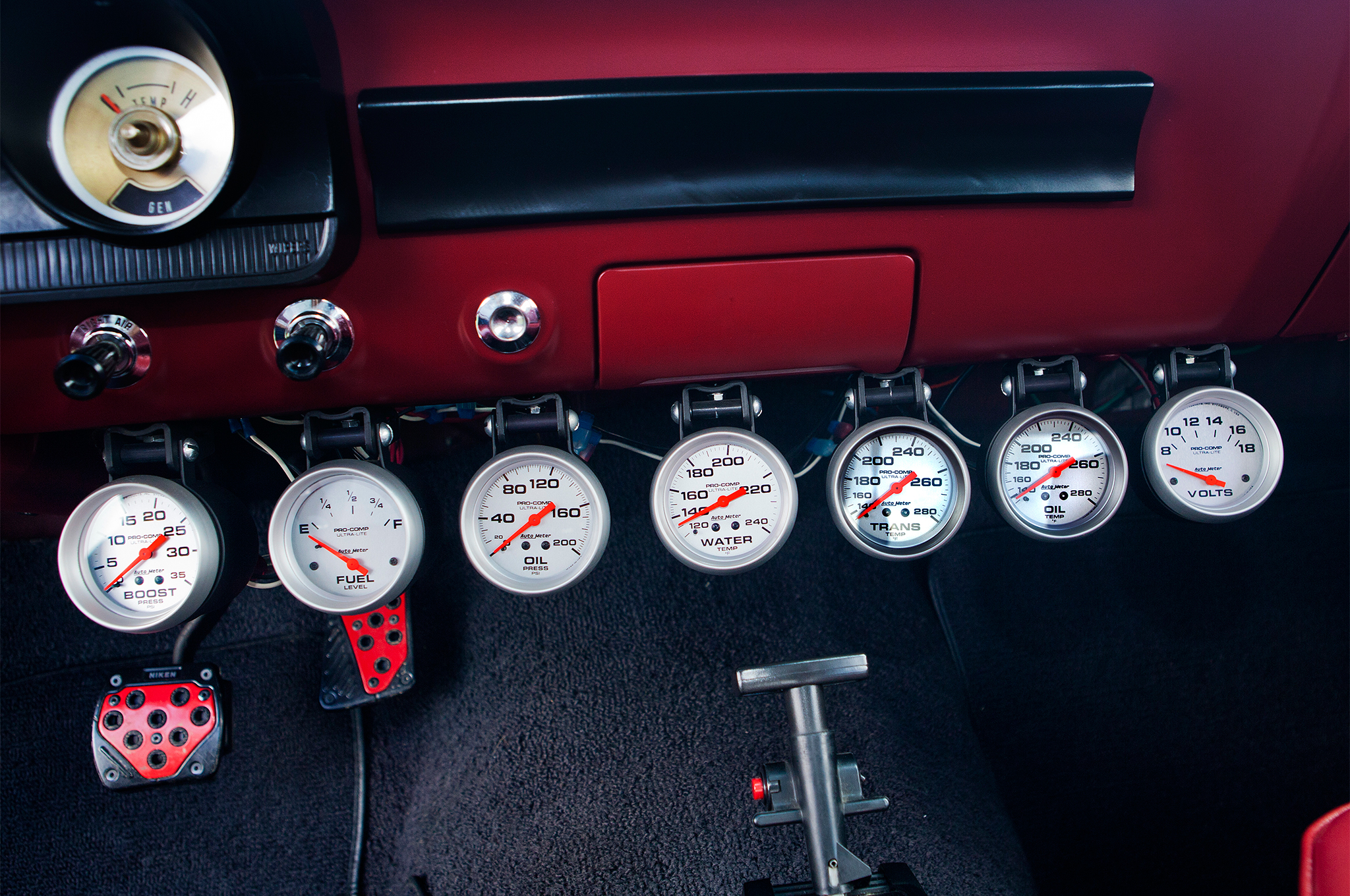 When you've got that much going on under the hood, it never hurts to have accurate gauges to keep tabs on—well, pretty much everything.