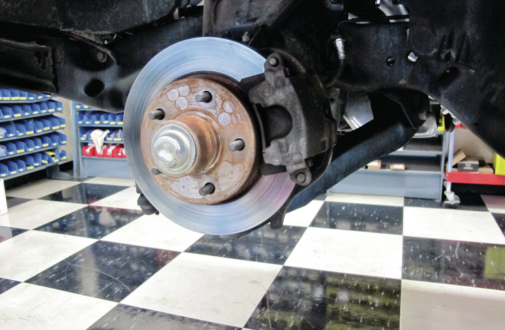 These are OEM-style aftermarket front discs, which are built from cast-iron and weigh nearly 19 pounds each.
