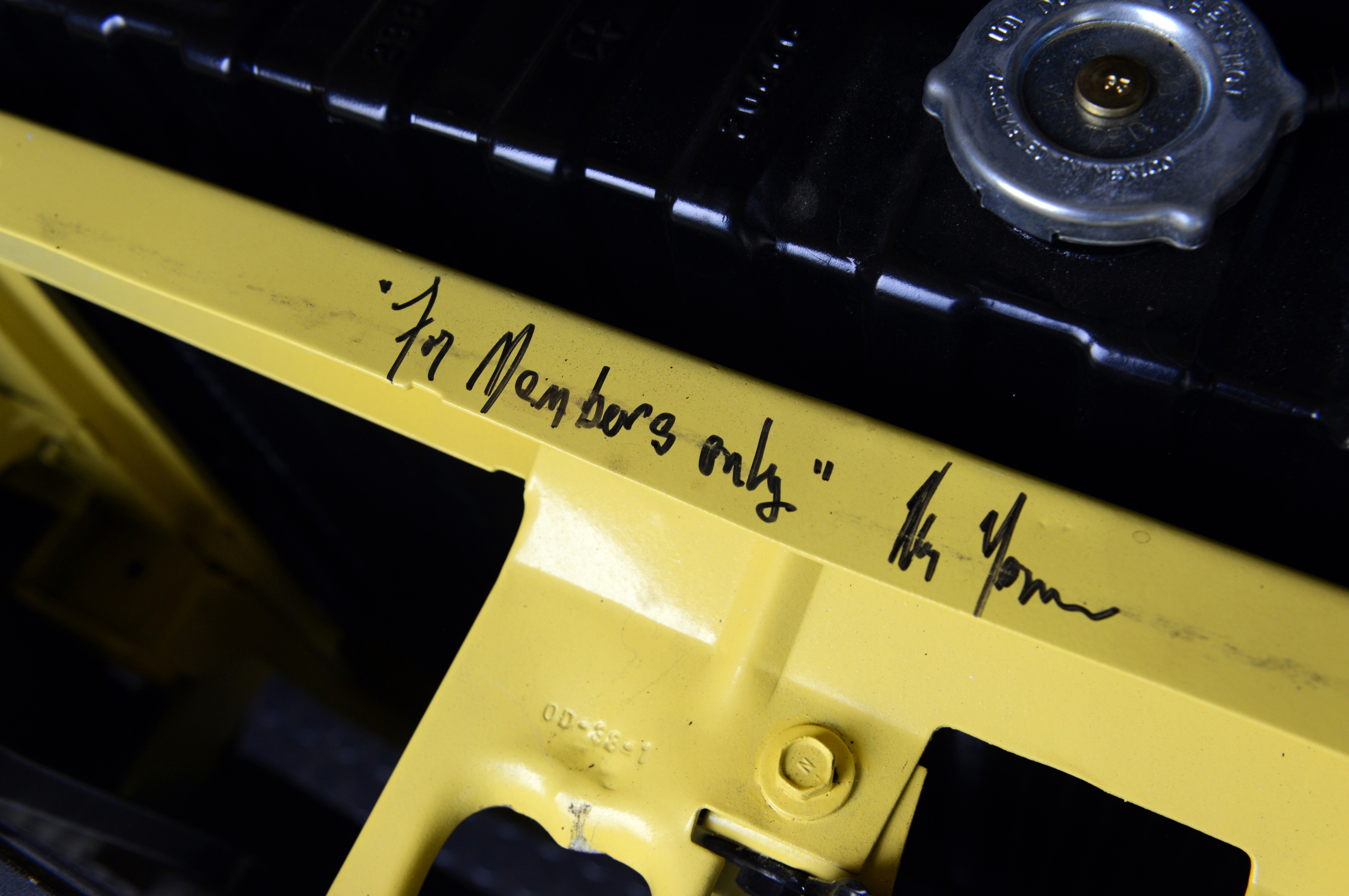 While the Challenger was in Mr. Norm's MCACN booth, he autographed it in several places.