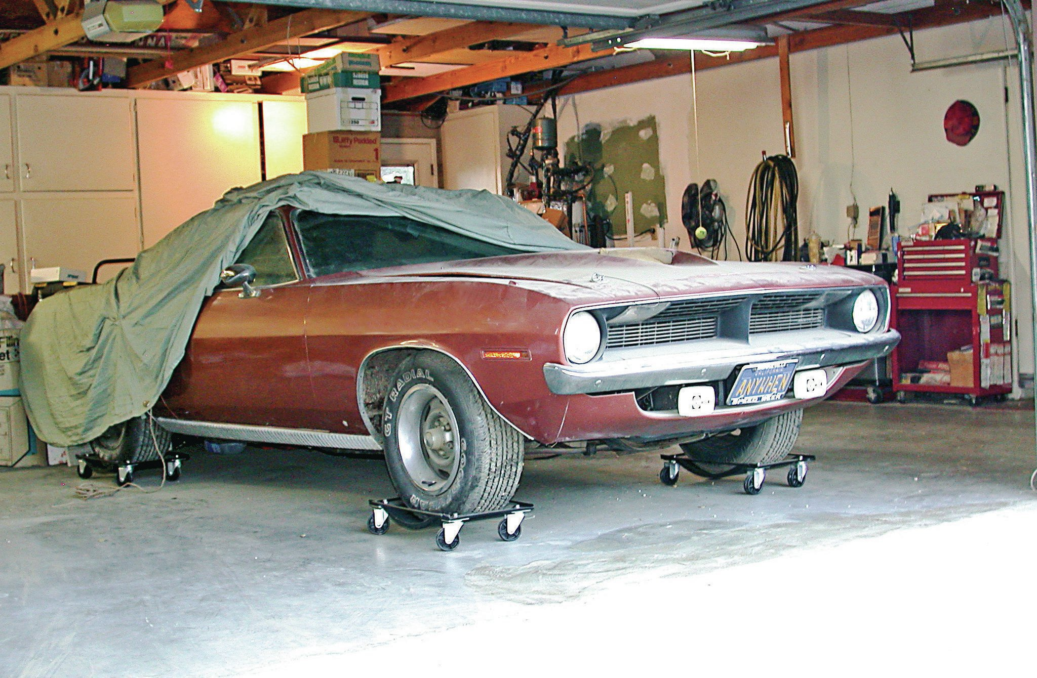 One of these days, Al Kirschenbaum plans to put his 1970 'Cuda back on the road. Currently in long-term storage, the car sports a later 360ci small-block with 3x2 Six Pak induction, as well as AAR 'Cuda suspension components. Careful prep putting the car into storage and meticulous checks before placing the car back into service should minimize any serious problems.
