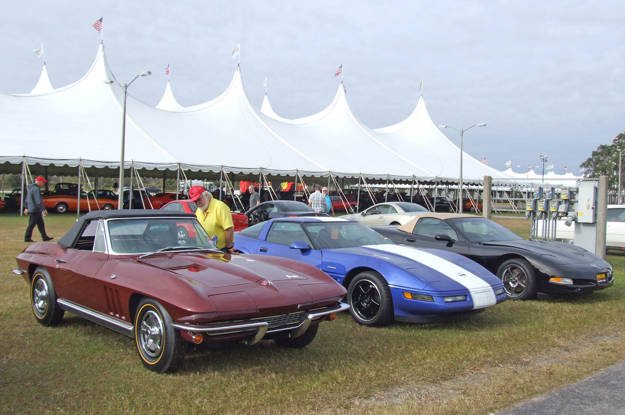 """""""The Bid Goes On"""" cars did not reach their reserve prices but are still available for sale. This gives buyers and spectators a chance to see cars that went over the block days before."""