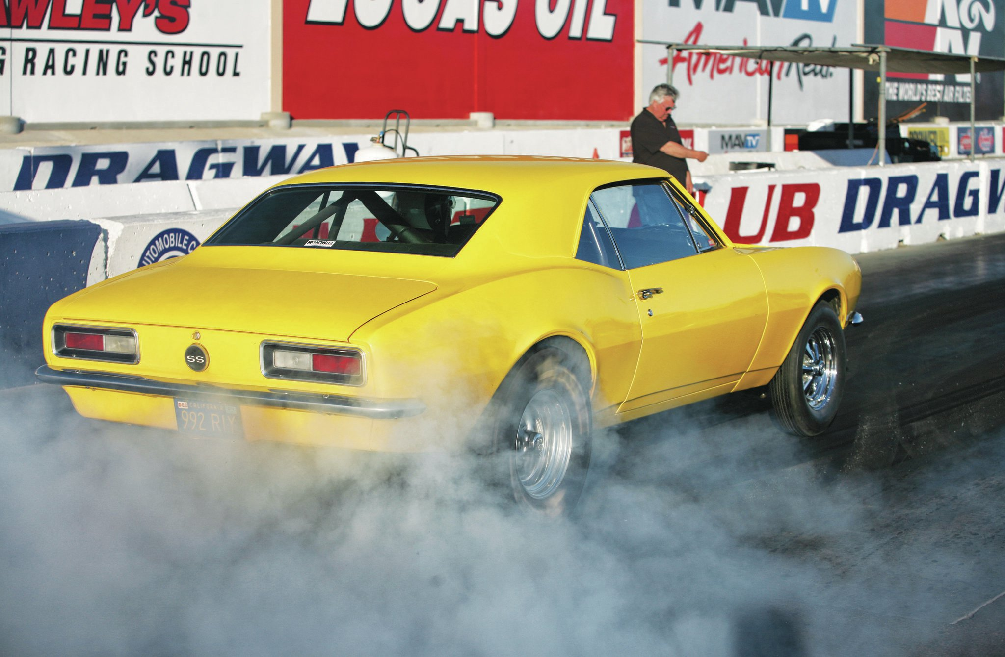 Even though the rear suspension is only leaf springs and a set of CalTracs, the Crusher Camaro always hooks up well. OK, not when it's doing a burnout, but you get the point.