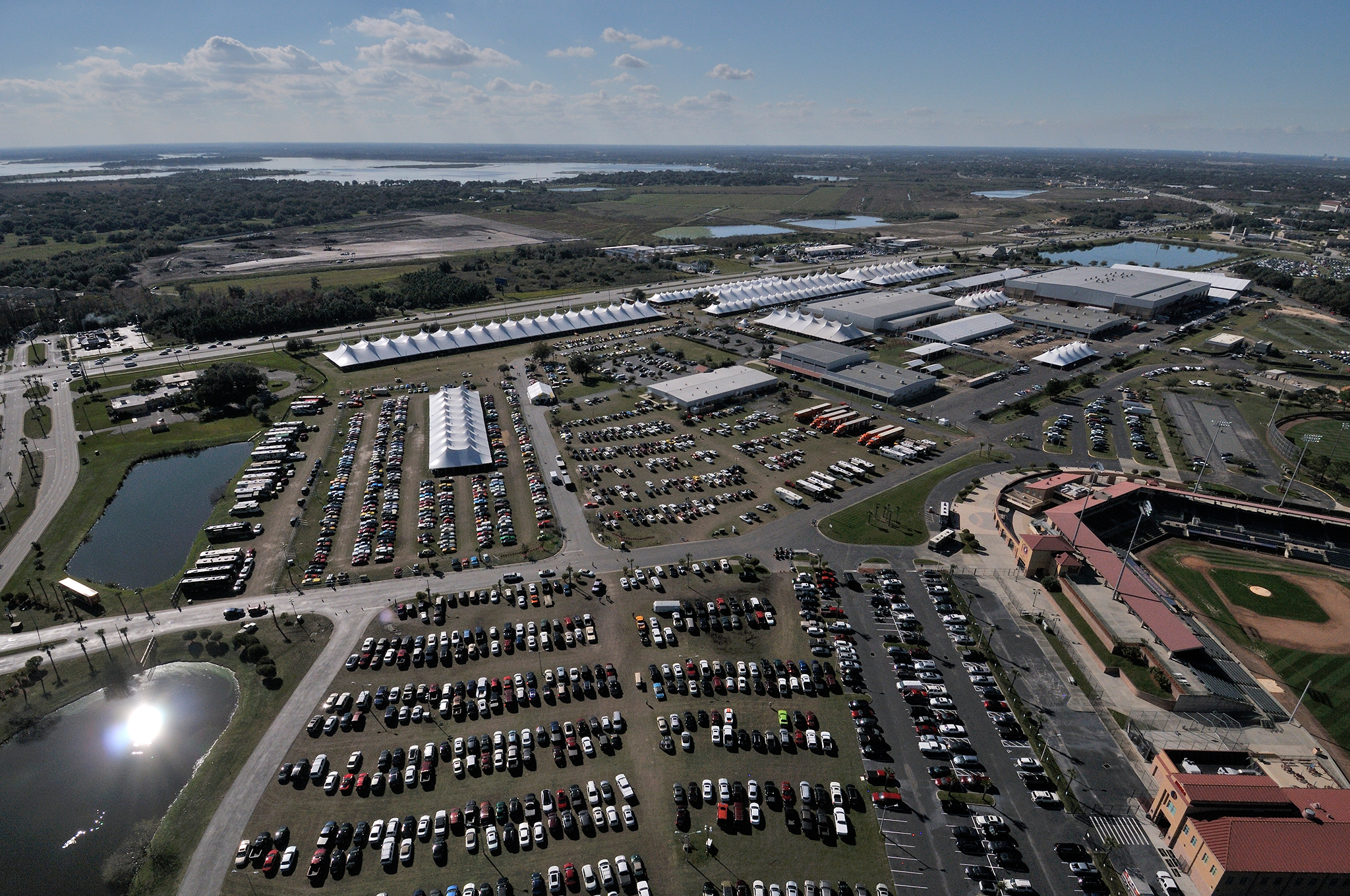 Mecum's Kissimmee auction is held each January. It's now grown to 3,000 vehicles and 10 full days.