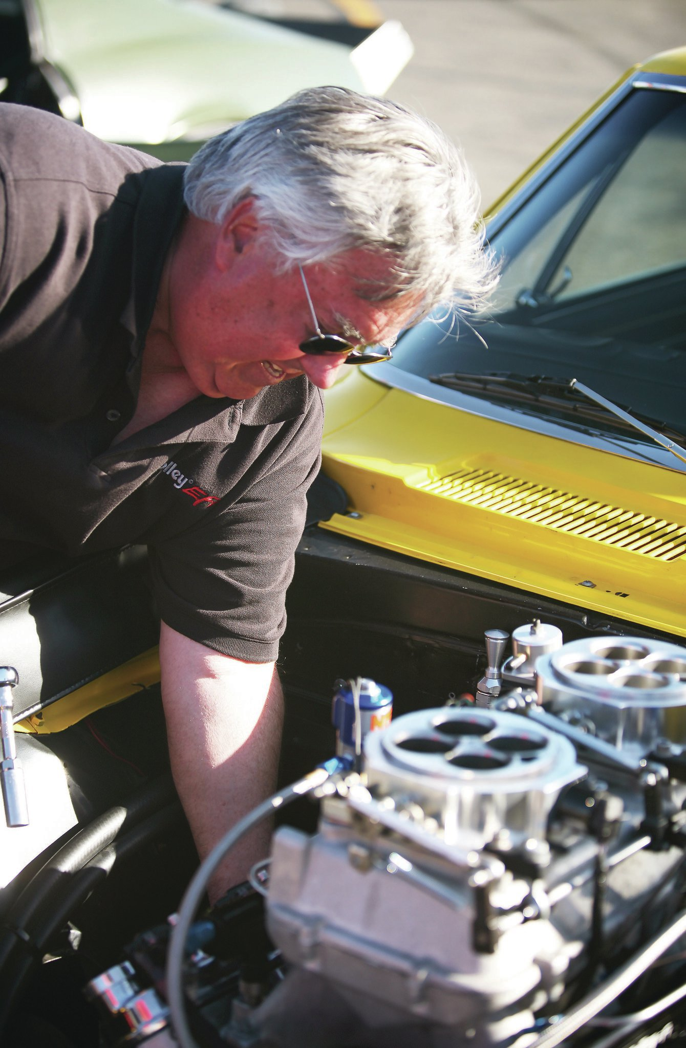 Robin Lawrence from Holley Performance helped dial in the enrichment for the nitrous system. Here he is reading plugs in the Mast Motorsports LS7.