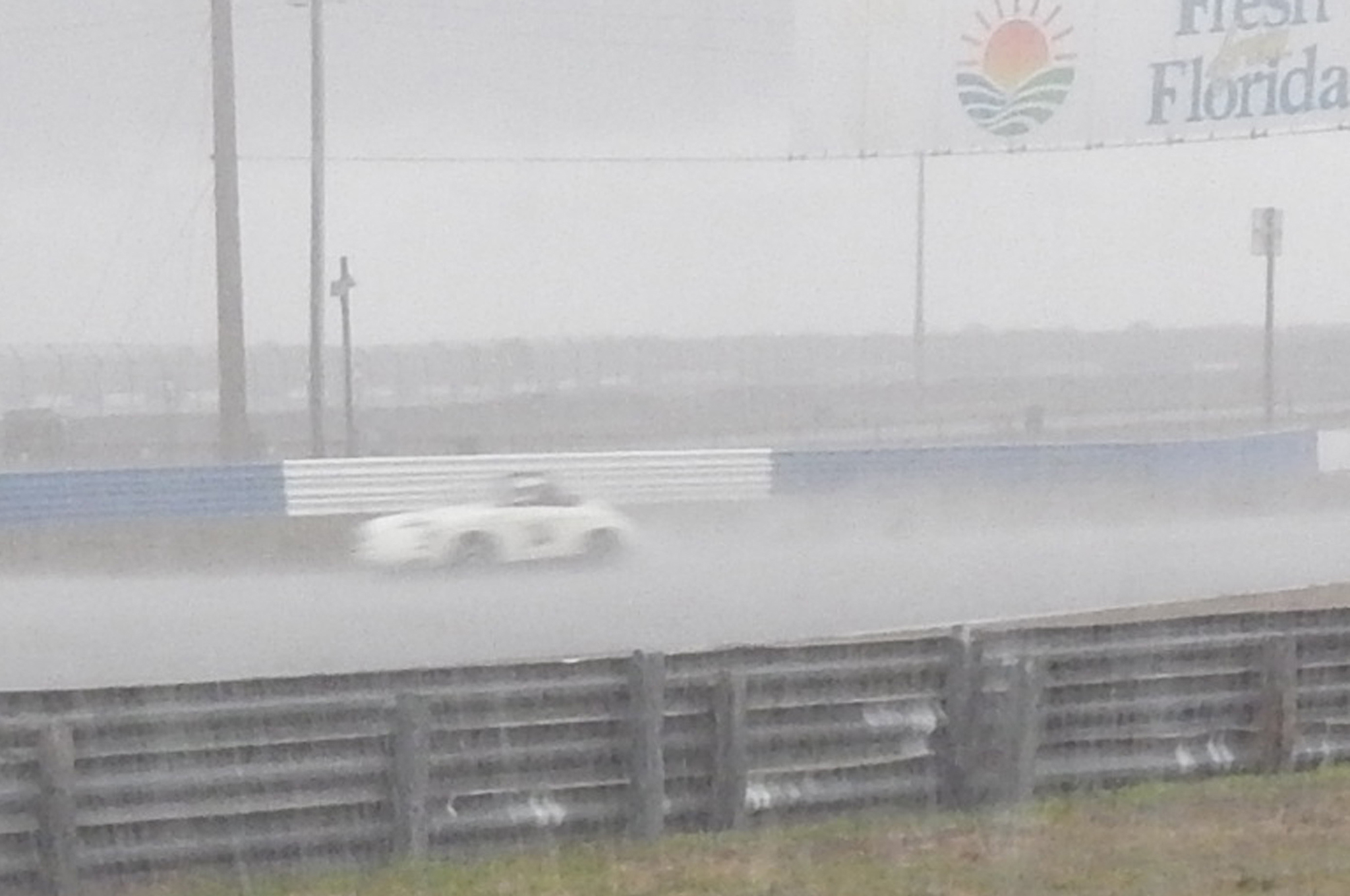 Rain dampened only one race – but it really poured. Some very determined drivers of open cars plowed on despite having no effective wipers and minimal windshields.
