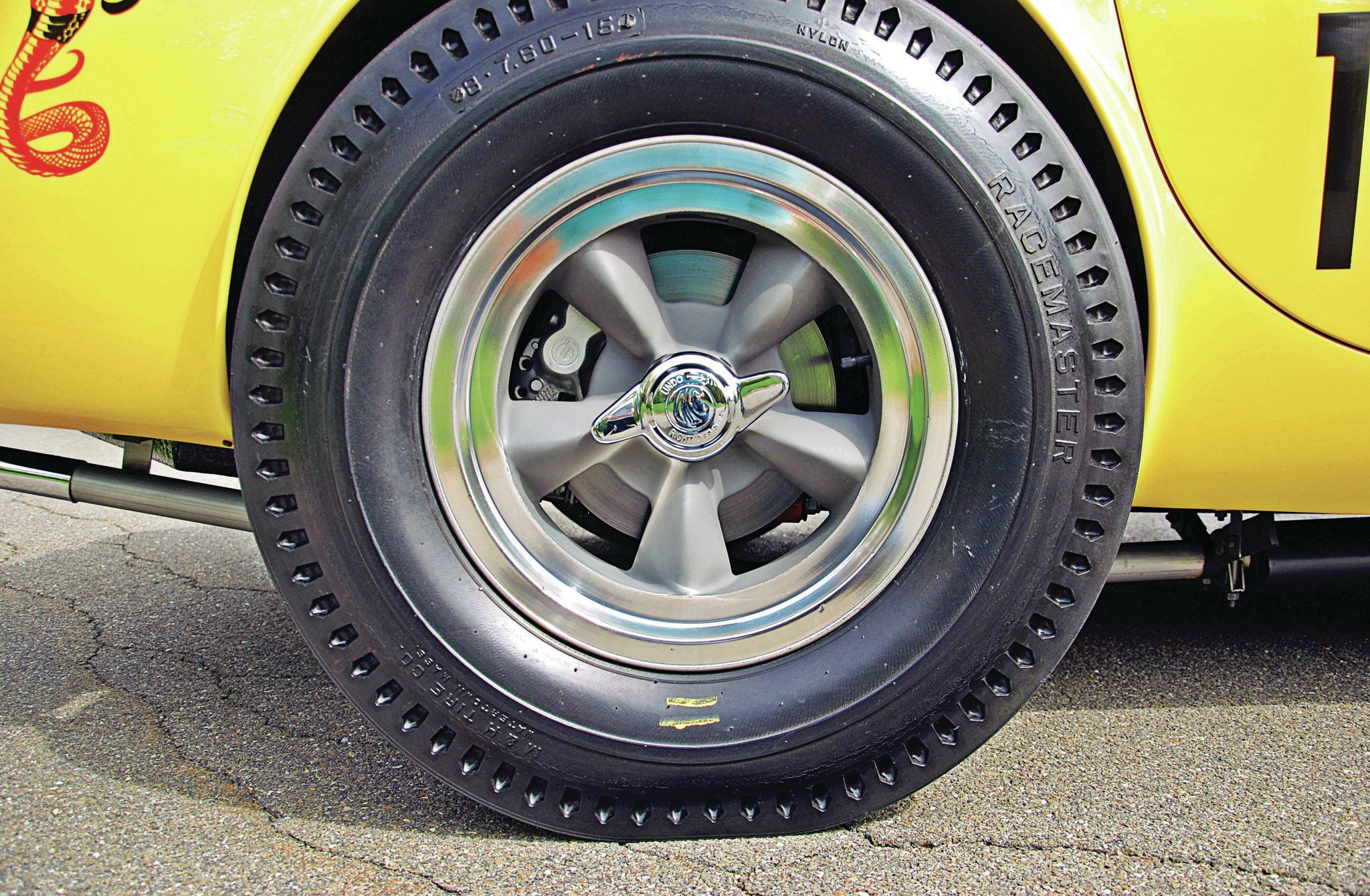 Steve sourced the correct tires from his immense collection of NOS rubber.