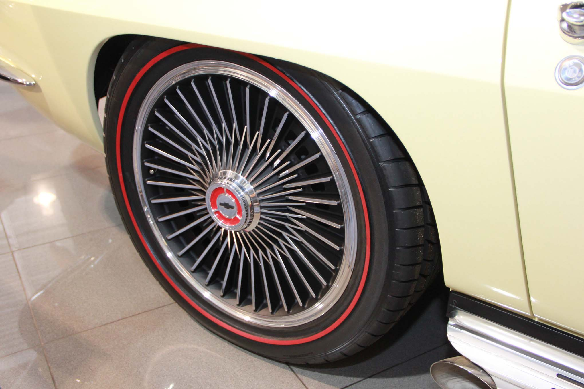 The subtle detail is that the wheels look stock but are actually 20s.