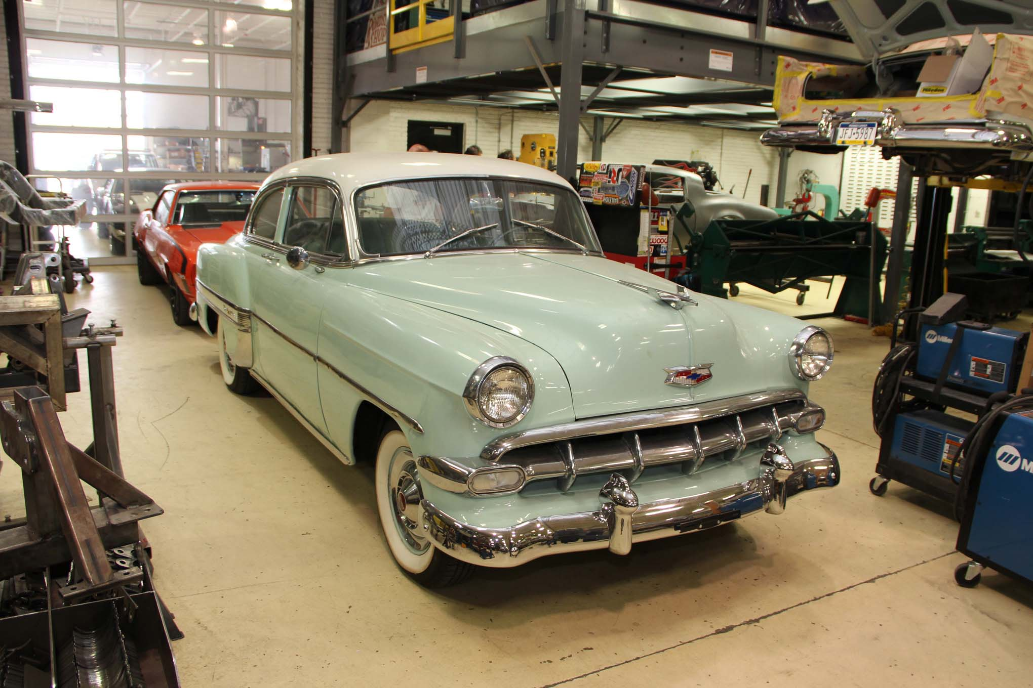 Gerber and his guys can put a chassis under anything. This 1954 Chevy is almost too nice to molest, but after some time in this shop, it should be able to cruise at 80 with the A/C on.