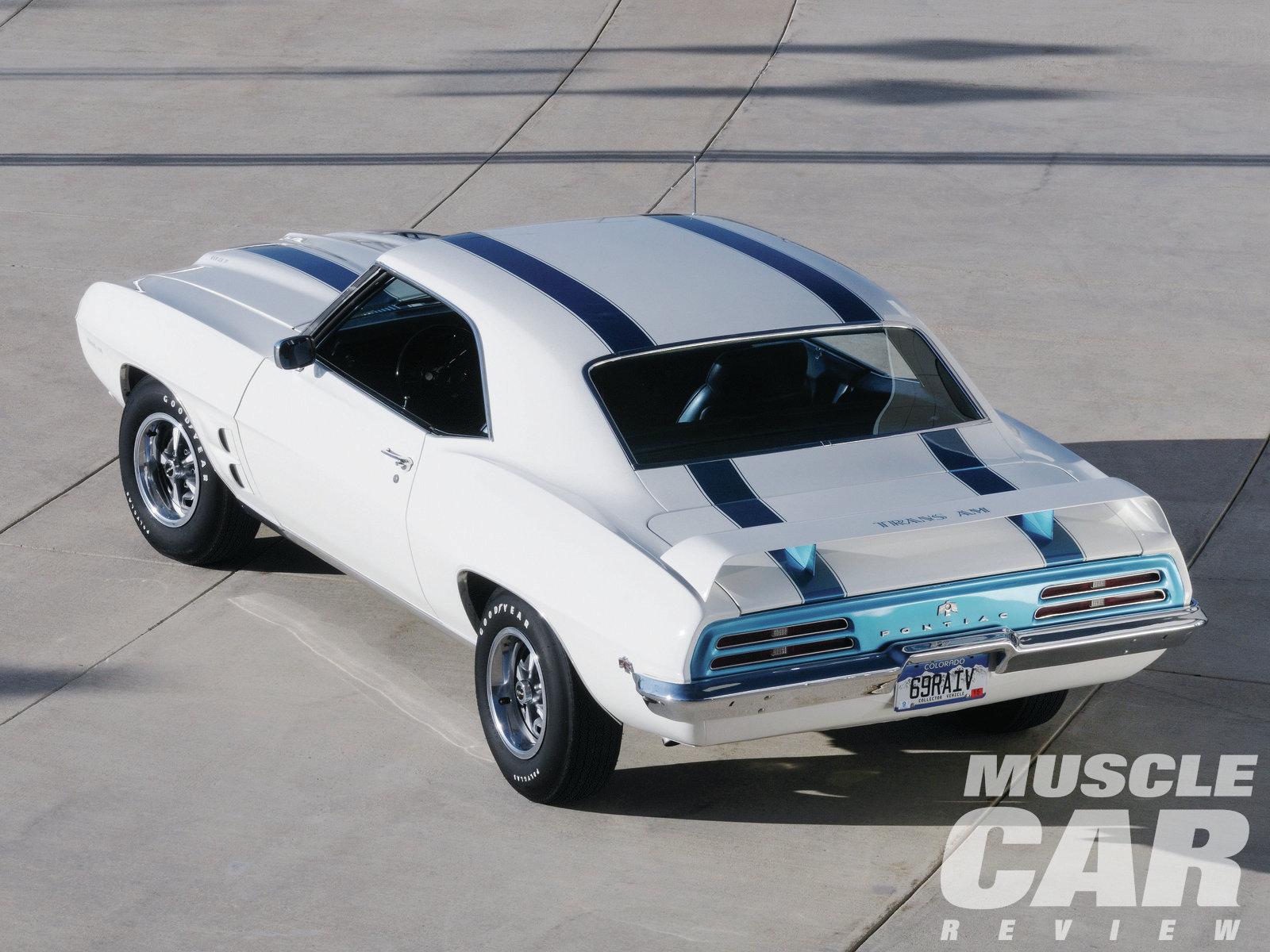 The Brits had their green, the Italians red, the Germans silver. The traditional color scheme for U.S. racing teams consisted of blue stripes over white paint, which is why Pontiac chose it for its new Trans Am. Pontiac's stylists wanted the car to look racecar purposeful, not necessarily muscle car trendy.