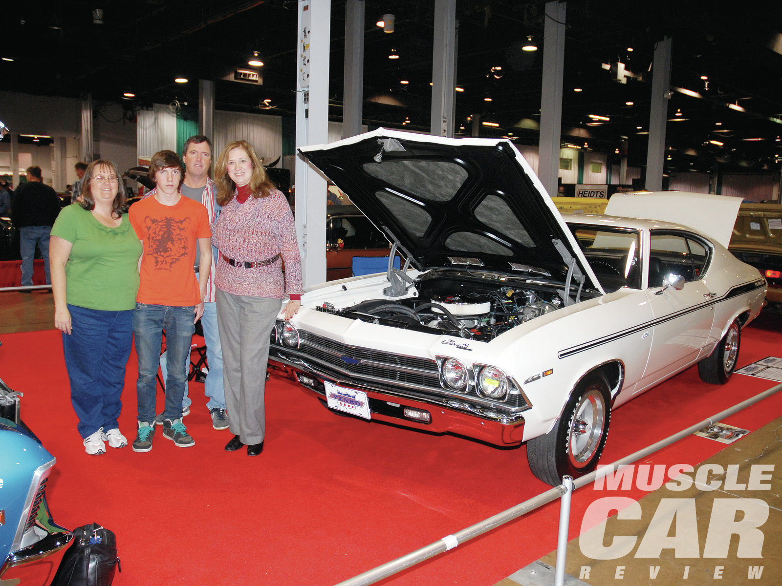 Joe and Jake's Yenko/SC 427 Chevelle attracted a lot of attention at the 2009 Muscle Car & Corvette Nationals in Chicago, including a visit from Don Yenko's oldest daughter, Dr. Lynn Yenko-Zoiopoulos (right). By the way, the '69 won a Gold in the Concours Day Two Period Correct Modified class.