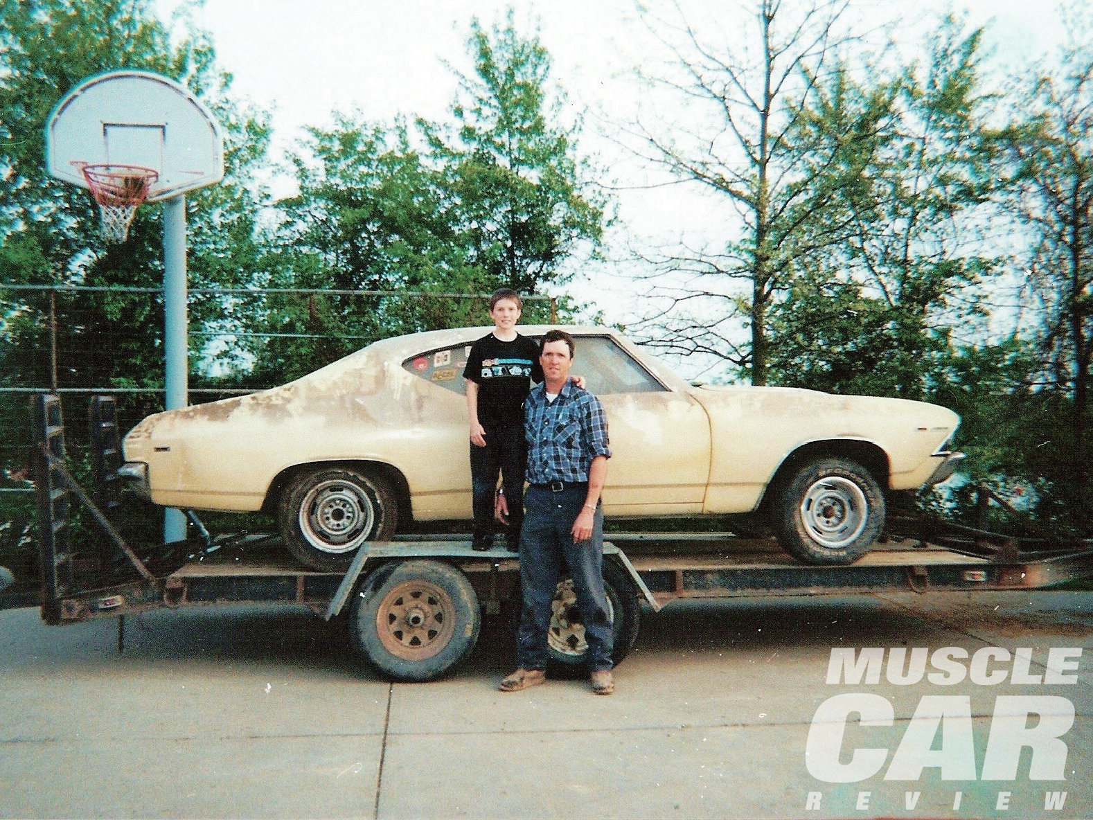 Here are Joe and son Jacob the day they picked up the Chevelle. Looks like a pair of happy campers, don't they?