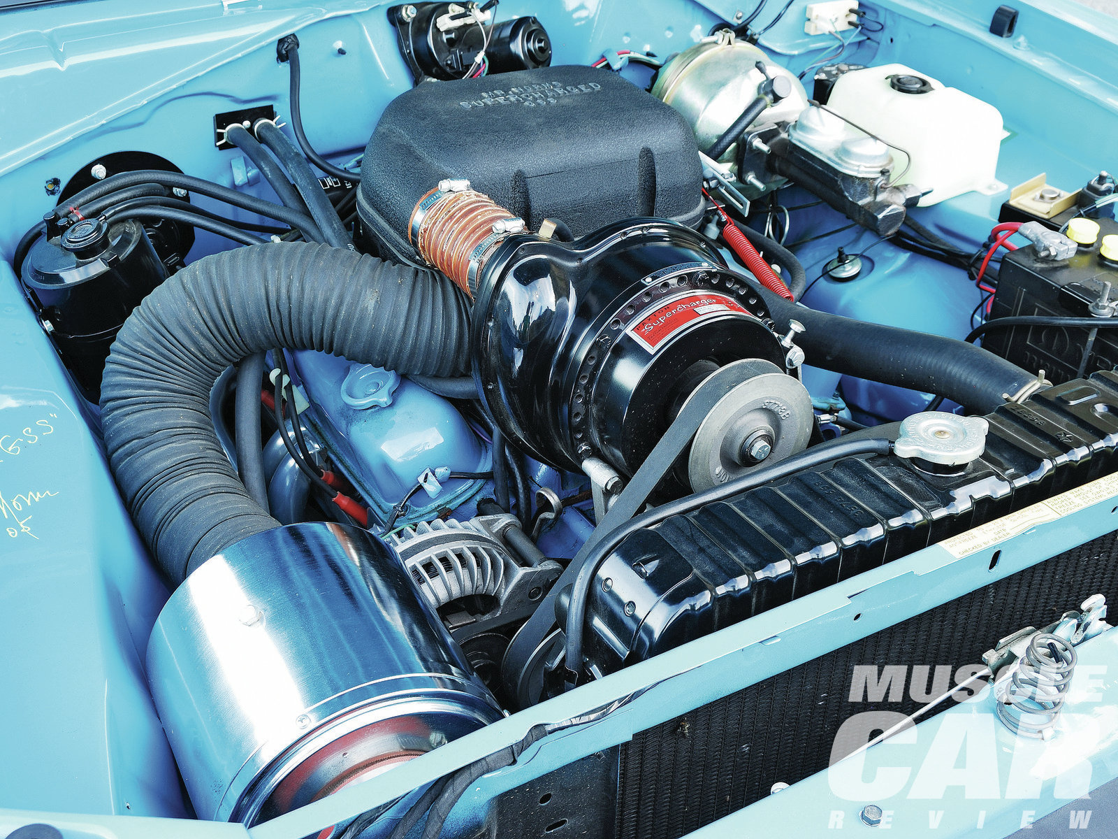 Lowered compression and a switch from gross to net ratings lowered the 340's power numbers from 275 in the '71 model to 240 in the '72. Mr. Norm's power-adder brought the ponies back up to 360 when the Paxton blower was in full boost.