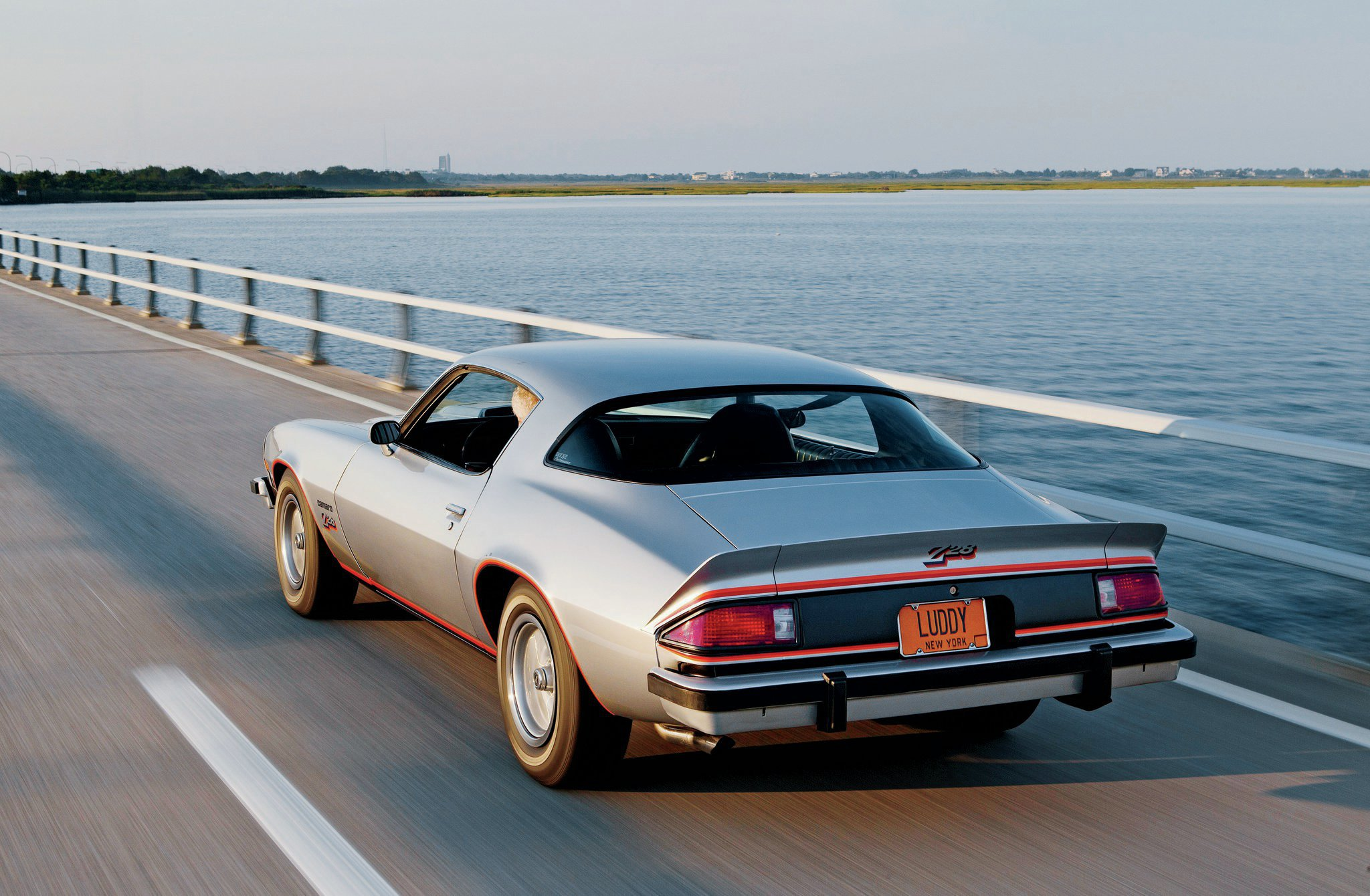 Louise's Z28 is one of 17 performance and muscle cars she and her husband Henry own. Most were bought new. Louise bought hers to be her daily driver in the years before she and Henry were married.