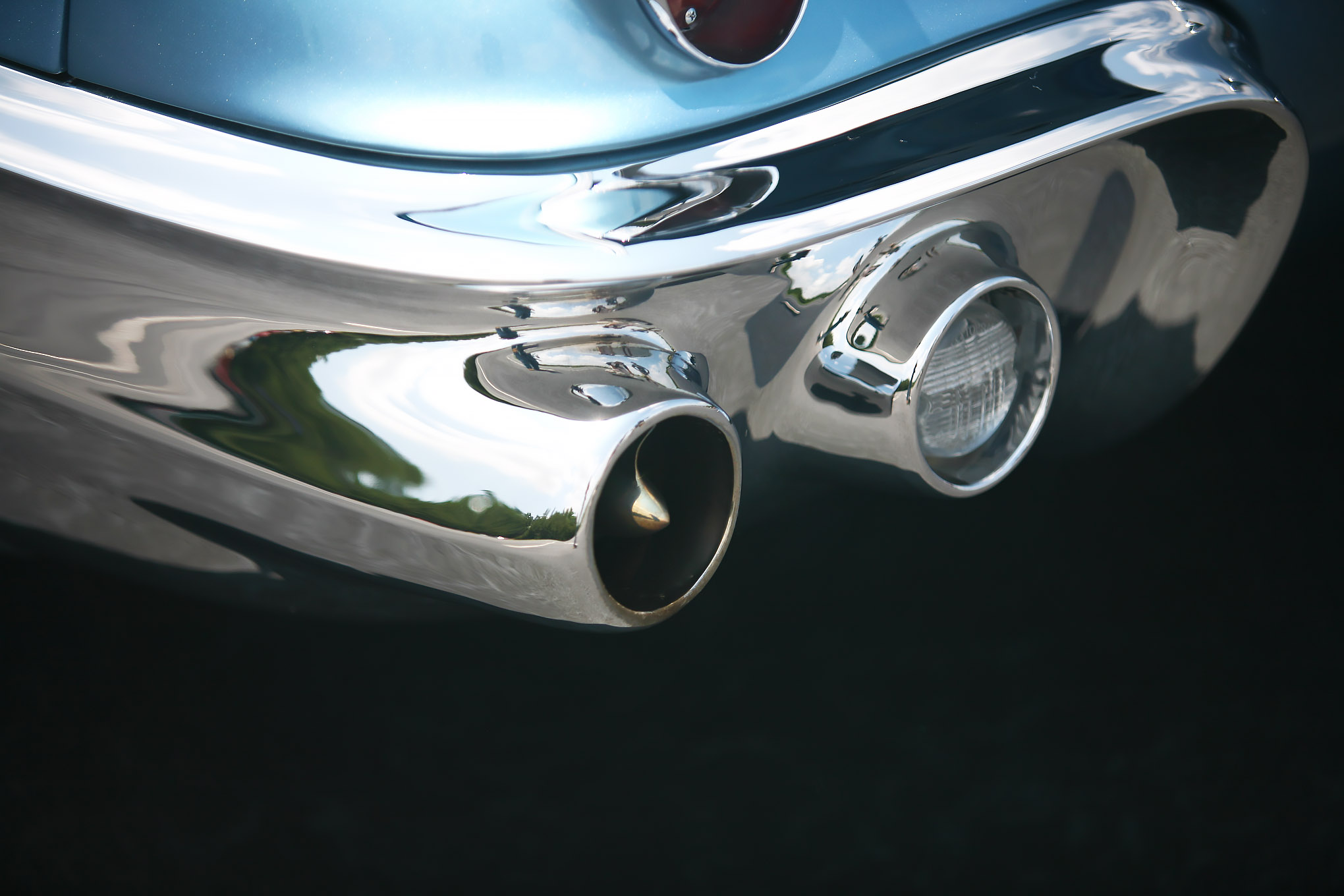 The bumpers are cast aluminum and double as exhaust exits.