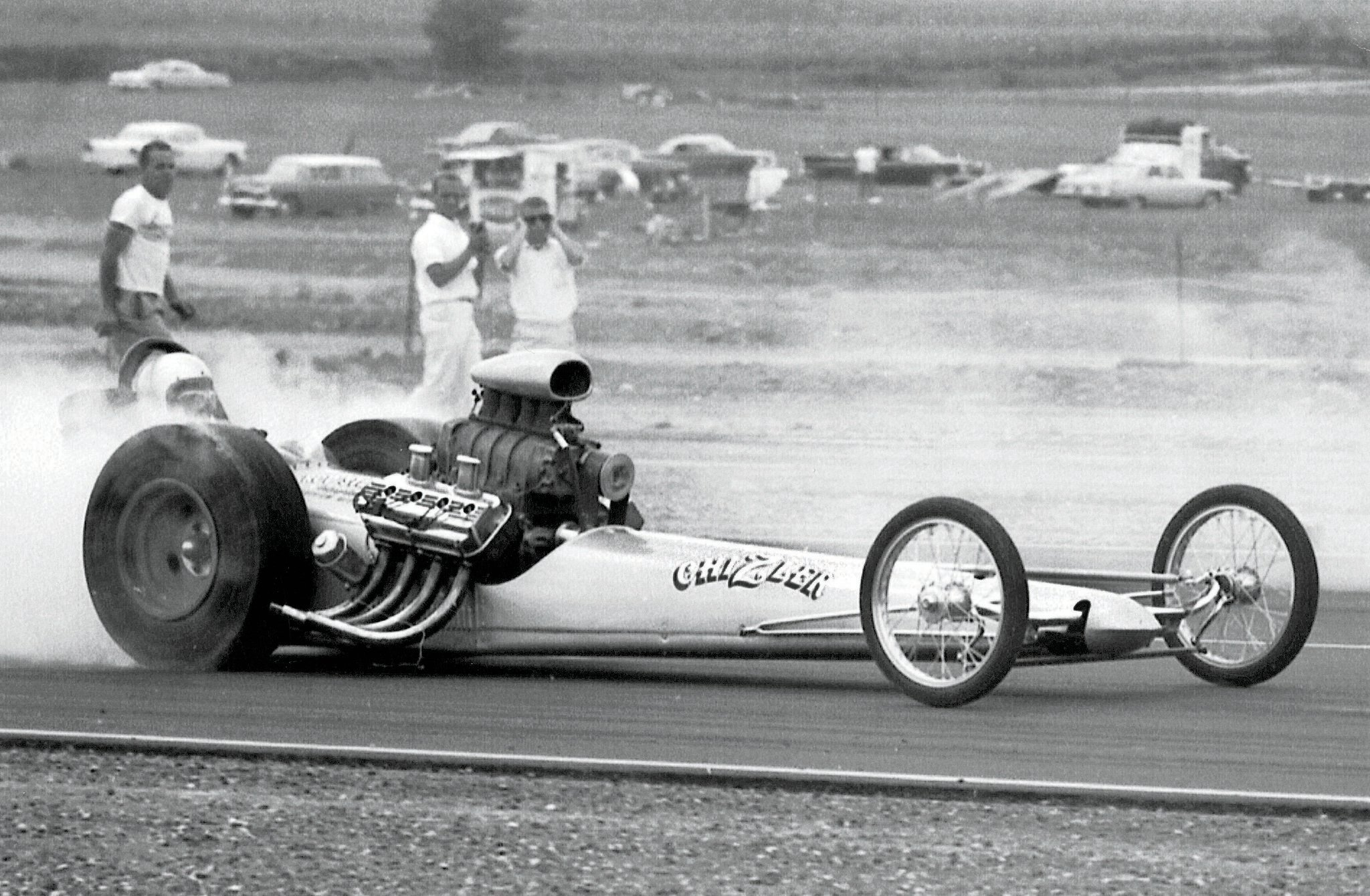 Greek contracted California chassis guru Rod Stuckey to build a car for him for the 1963 season. A sleek beauty, it took Karamesines to his first 7-second clocking.