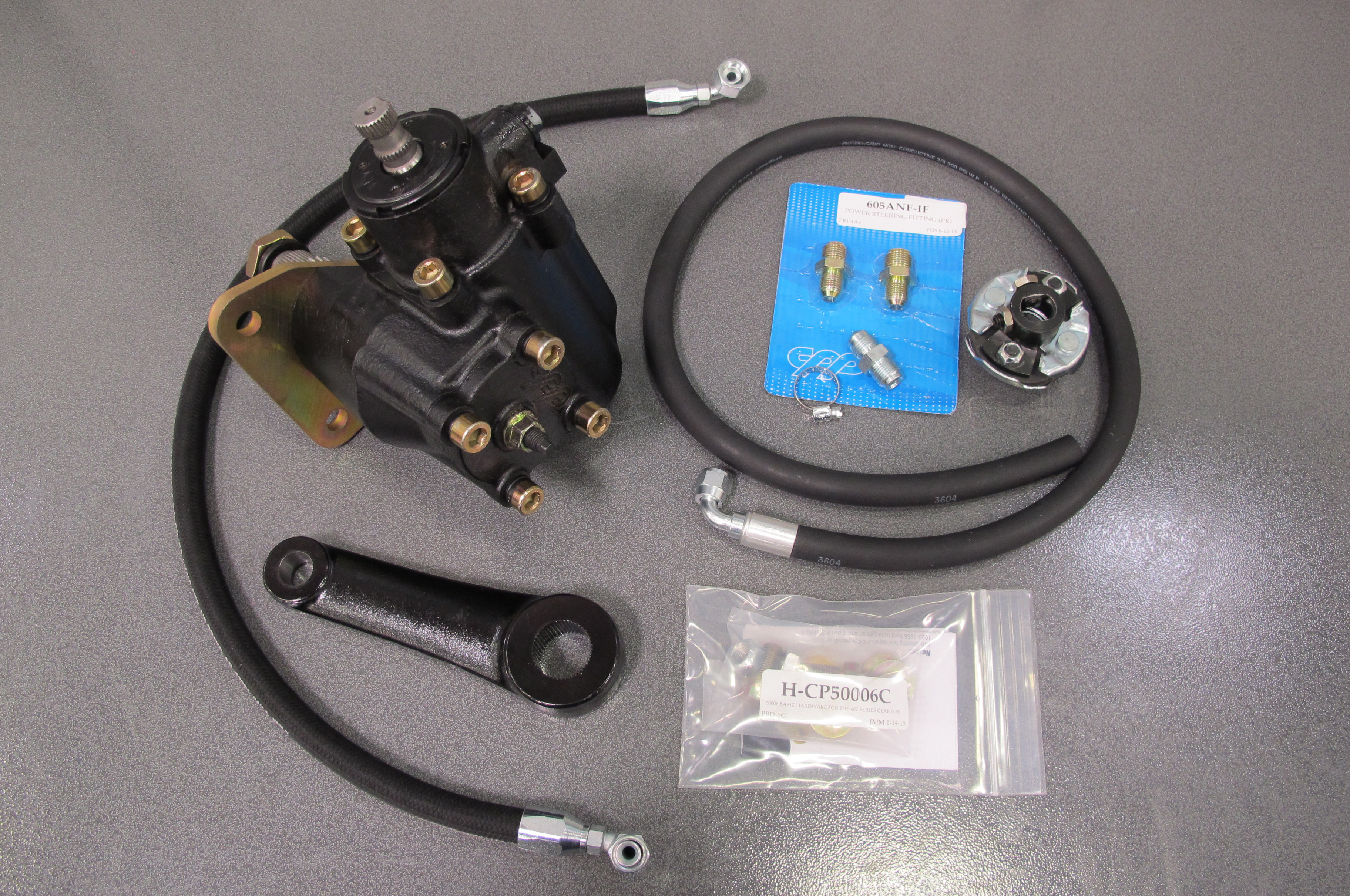 power steering for straight axles hot rod networkconverting a \u002755 \u002759 3100 chevy to power steering