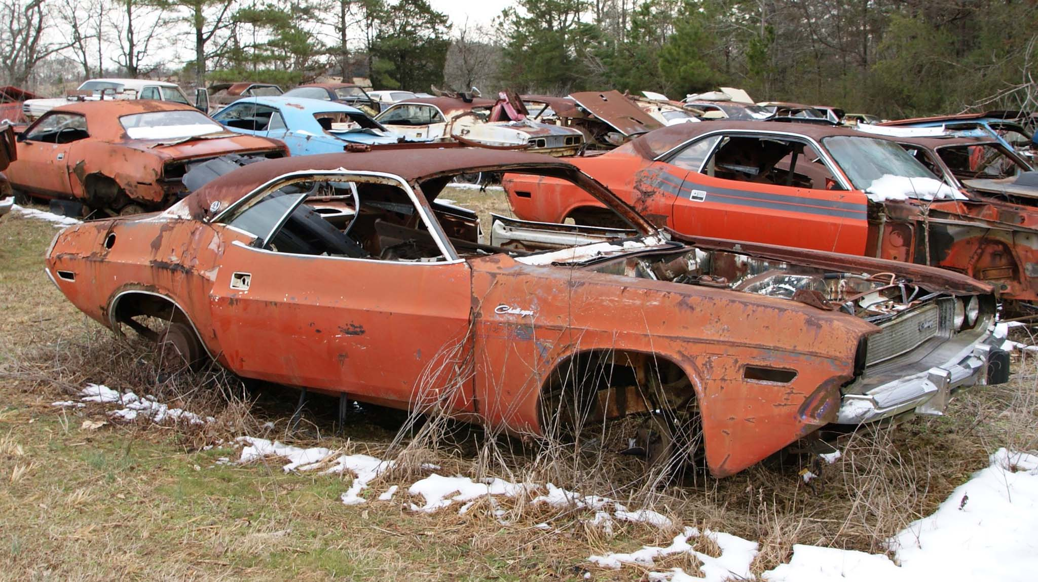 This 1970 Challenger R/T SE sits among its siblings.