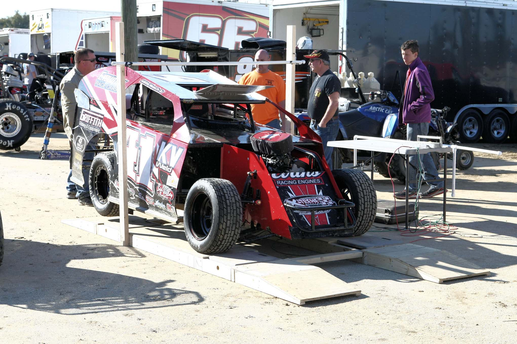 Willie Veach Jr.'s car is getting set to be scaled.