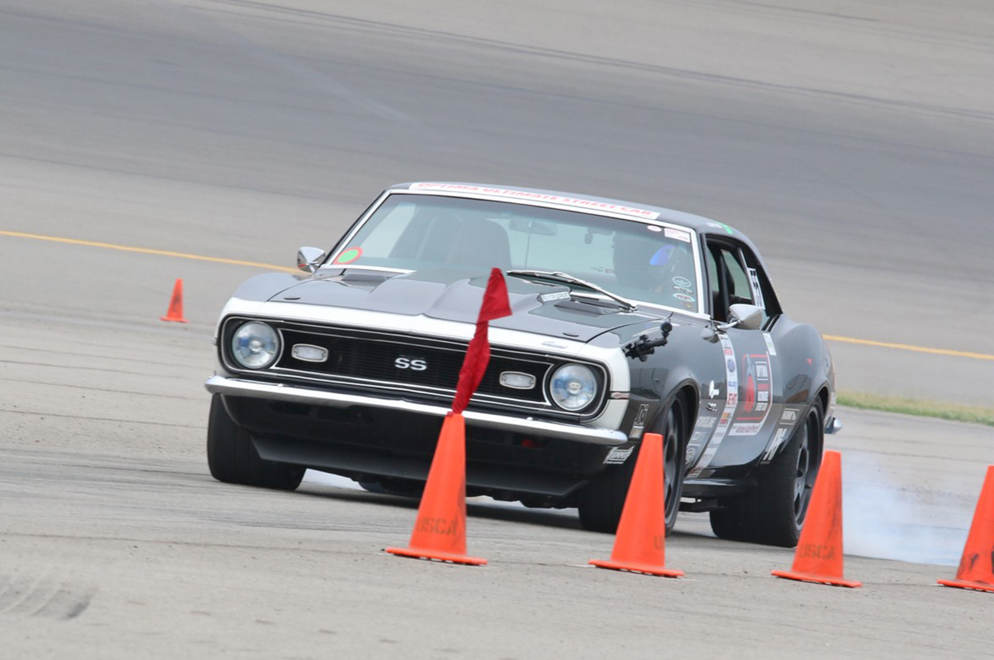Larry Woo's 1968 Camaro is a regular competitor in this series and even though he missed the podium with a Fourth Place finish in the GTV class (1989-and-older RWD vehicles weighing at least 3,200 pounds), he still snagged enough points to move into the overall GTV points lead for the season.