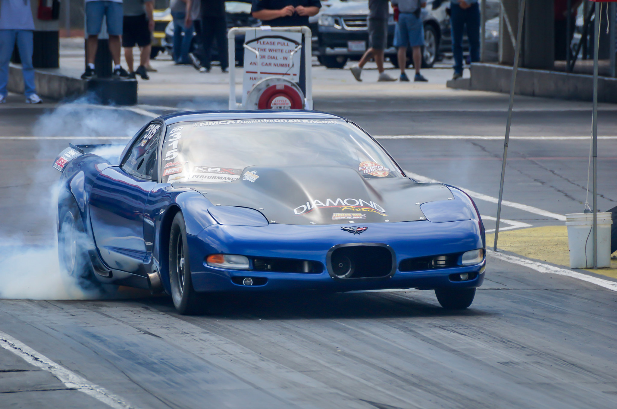 Joe DeDona posted a 4.91 at 152 mph to take the top-qualifier spot in Drag Radial with his 2002 Corvette. He had the field covered with that run by a wide margin, and the C5 ZO6 had clocked a 4.61 earlier in the year. Teaming up with Tire Craft Racing, the Staten Island, New Yorker runs a 427ci solid RHS LS small-block with a new F1X-12R ProCharger under the hood, and utilizes an RPM Transmissions Turbo 400 and one of the company's IRS 9-inch setups. As DeDona and crew were warming up the car in their pit prior to their first-round bye run, one of the cylinder heads dropped a valve. It didn't cause too much damage, but it did put an end to DeDona's full-throttle exploits this weekend. DeDona will finish out the Challenge series this year with the current combination, and next year's 441ci billet block with Mast Mozez heads is already in the works.
