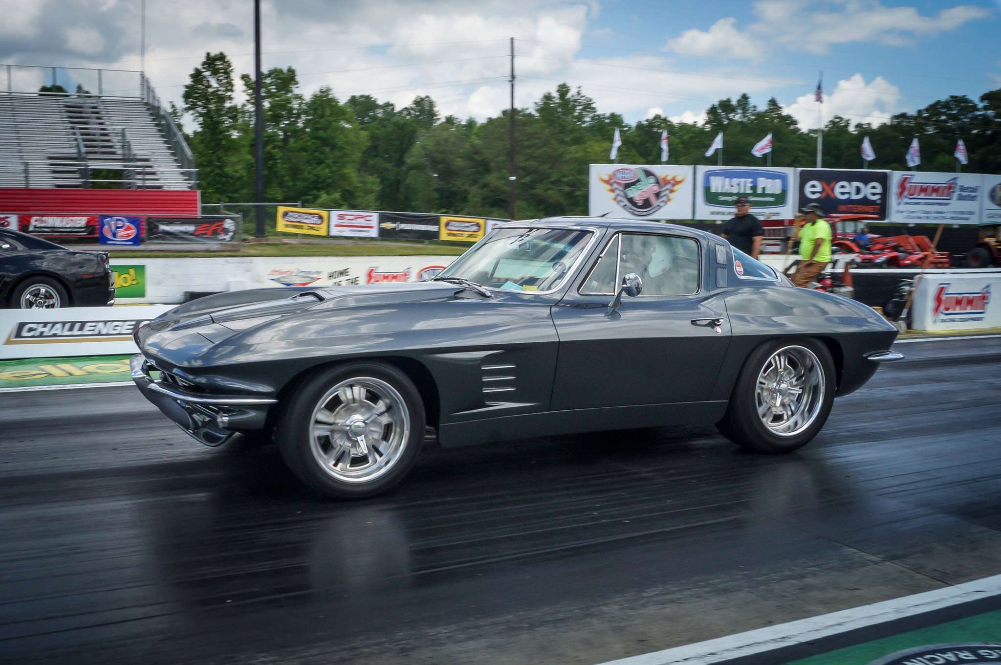 Jere Moore was competing in True Street with his '64 Corvette he calls Lydia. Keen eyes might notice a slight flare to the fenders, but they likely can't see that Jere has a hot-cammed, 480hp LS3 crate engine backed by a TCI 6X six-speed automatic transmission underneath the Corvette's skin. Jere has the chassis set up so he can just stab the throttle and go—to the tune of high 11s in the quarter-mile—all while enjoying his luxuriously appointed custom interior.