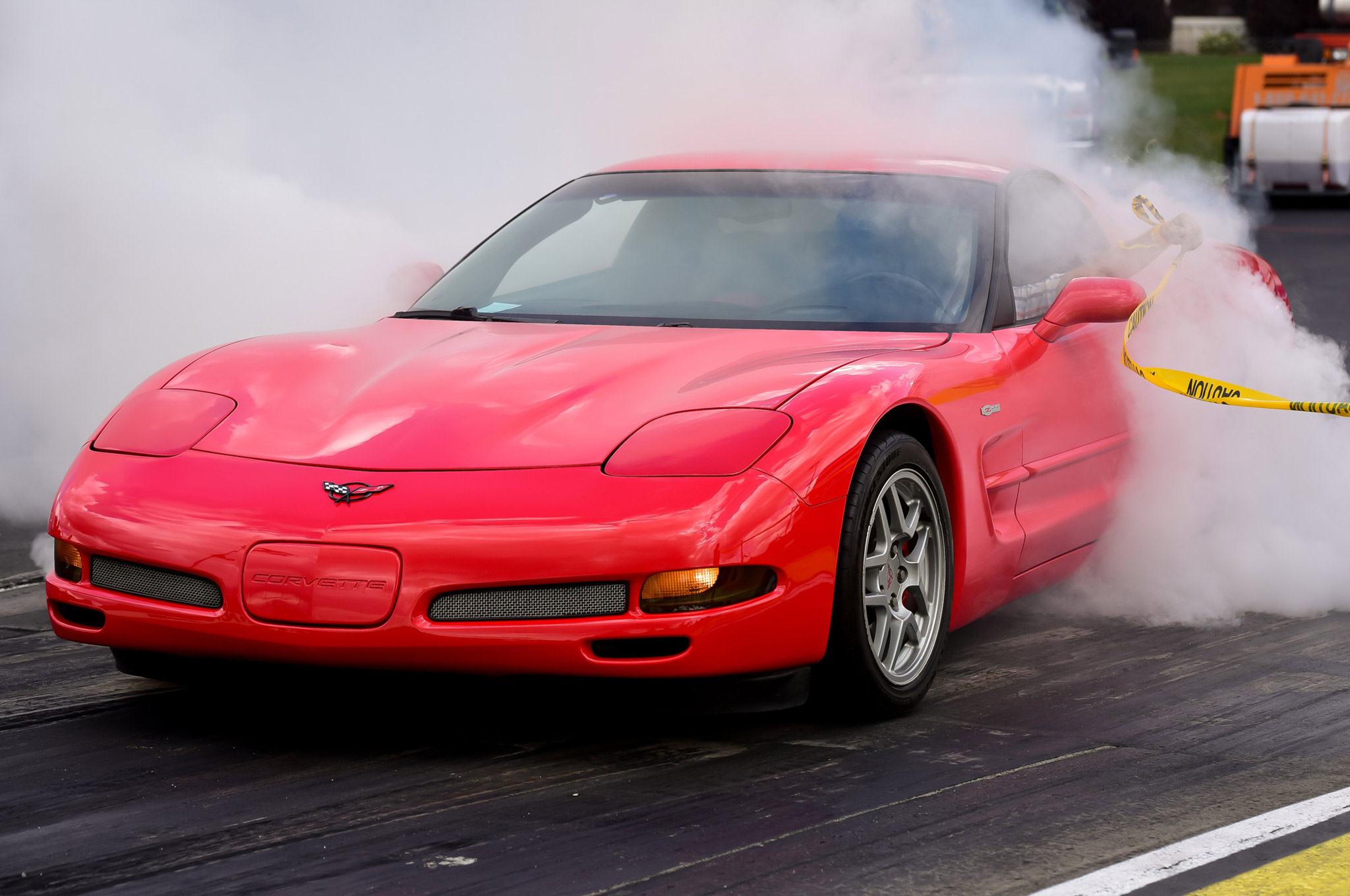 Three contestants entered the burnout contest, with just a single Corvette looking to decimate it's rear rubber. We didn't get this guy's name, and it's probably best we can't mention it, as traction control foiled nearly all of his attempts to spin the rear wheels. Eventually he got it going, but the crowd was over it at that point. Better luck next time.