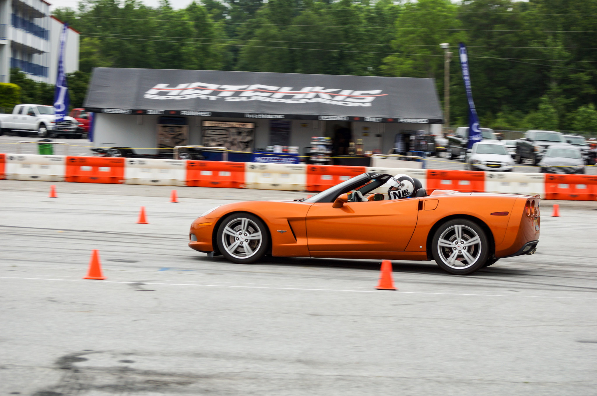 """While there were plenty of noise makers at the Hotchkis Auto X, it was Johnny """"C"""" Cichowski, a South-East field representative for OG Racing in Atlanta, who was quietly ripping up the asphalt behind the wheel of his 2002 convertible Corvette. Johnny C normally pilots an LS-powered Mazda Miata in competitive events, which given the power-to-weight ratio, should be a fun ride as well."""