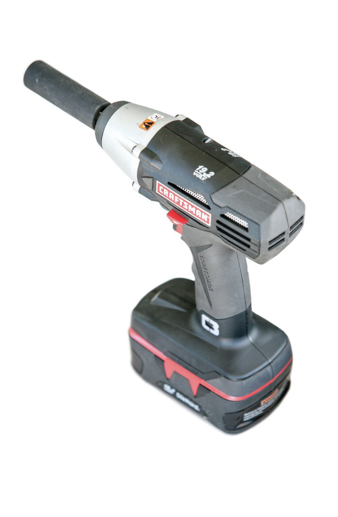 It's not as powerful as its air-powered cohort, but the cordless impact is invaluable when you've got to take it on the road or into a junkyard. New 19.2V C3 impact guns are about $160 at Craftsman.com.