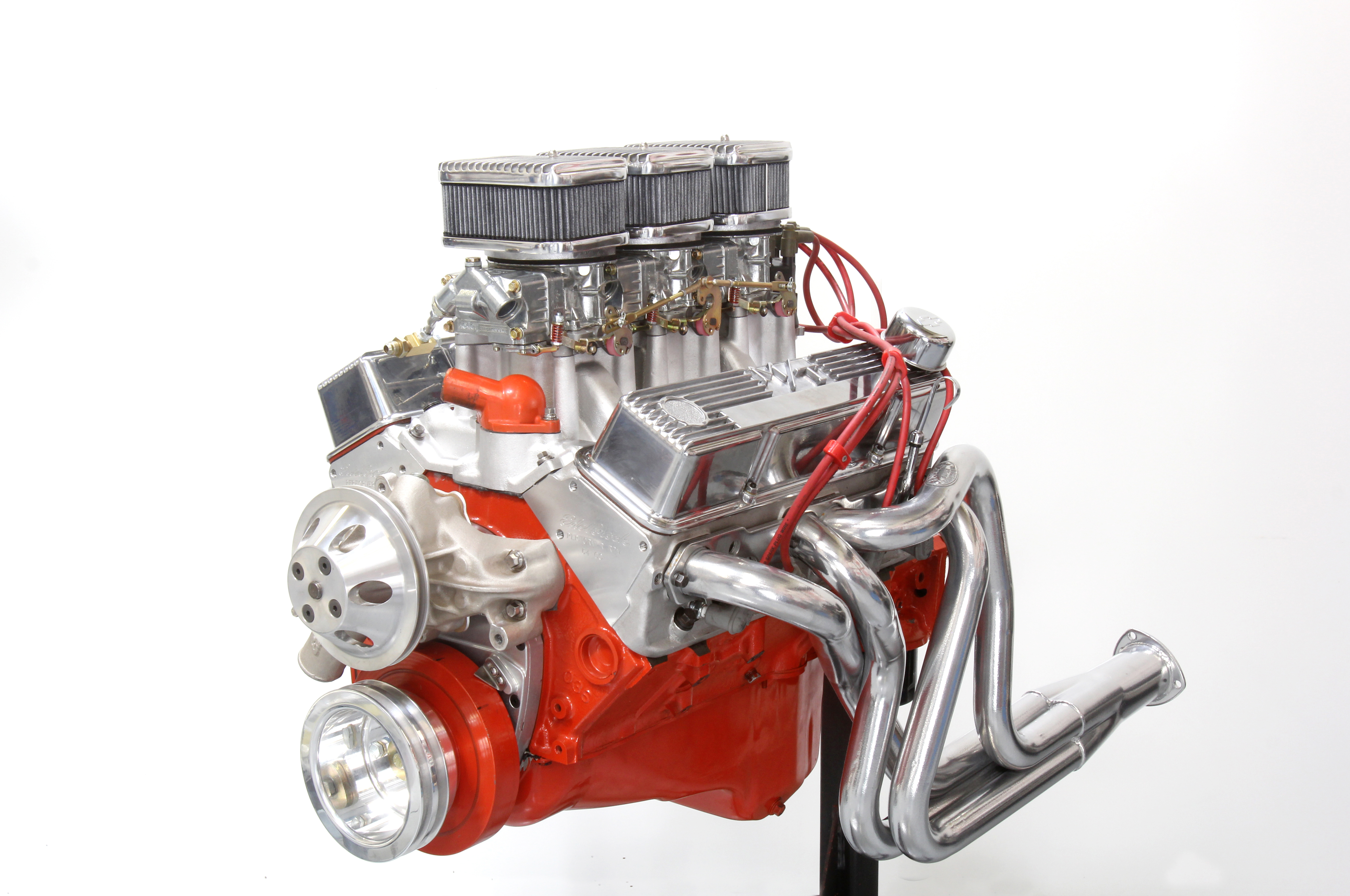 Testing Holleys New Small Block Chevy Tri Power System Hot Rod 5 3 Vortec Crate Engine With Wiring Harness Free Network