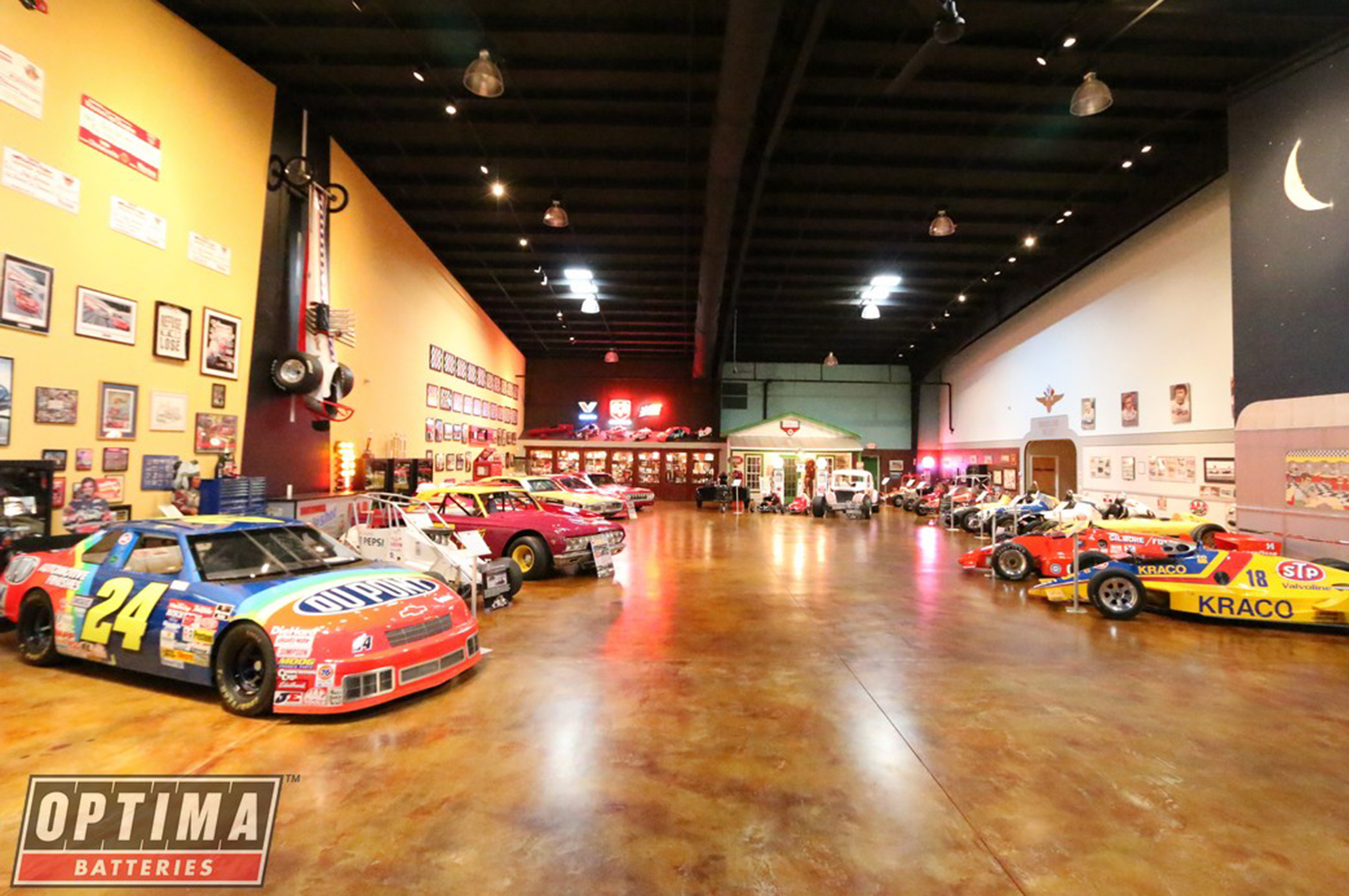 Legend Gear & Transmission arranged a private dinner and tour of Ray Evernham's shop for competitors on Friday night. This showroom was the first of four such areas, where a treasure trove of vehicles are stored and on display, from Jeff Gordon's DuPont Lumina to unrestored relics from the early days of stock car racing.