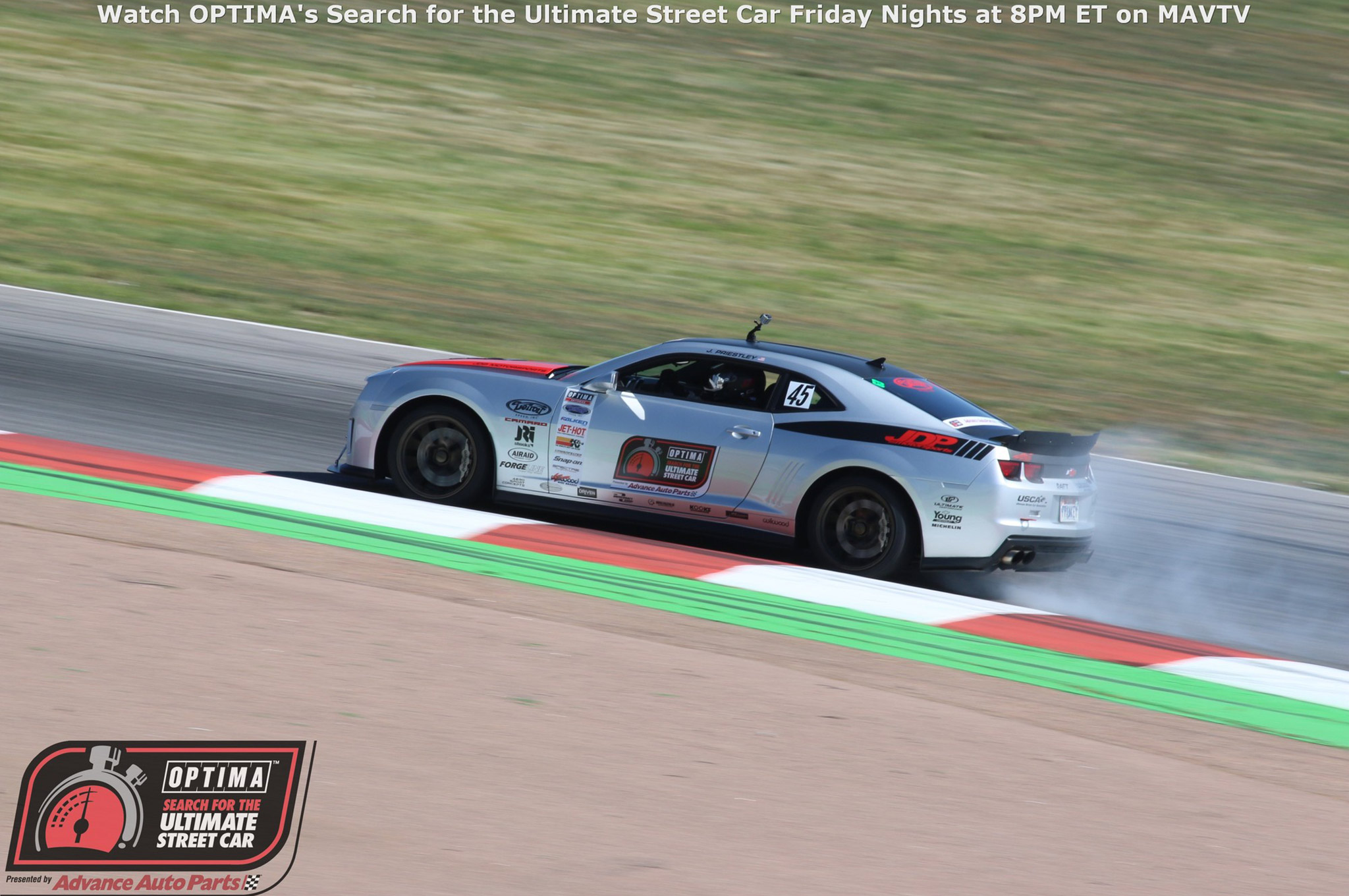 Some differential issues couldn't stop Jordan Priestly from winning the GT class in his 2011 Camaro. Priestley had previously qualified for the OUSCI at the Las Vegas qualifier but this was his first GT class win of the season.