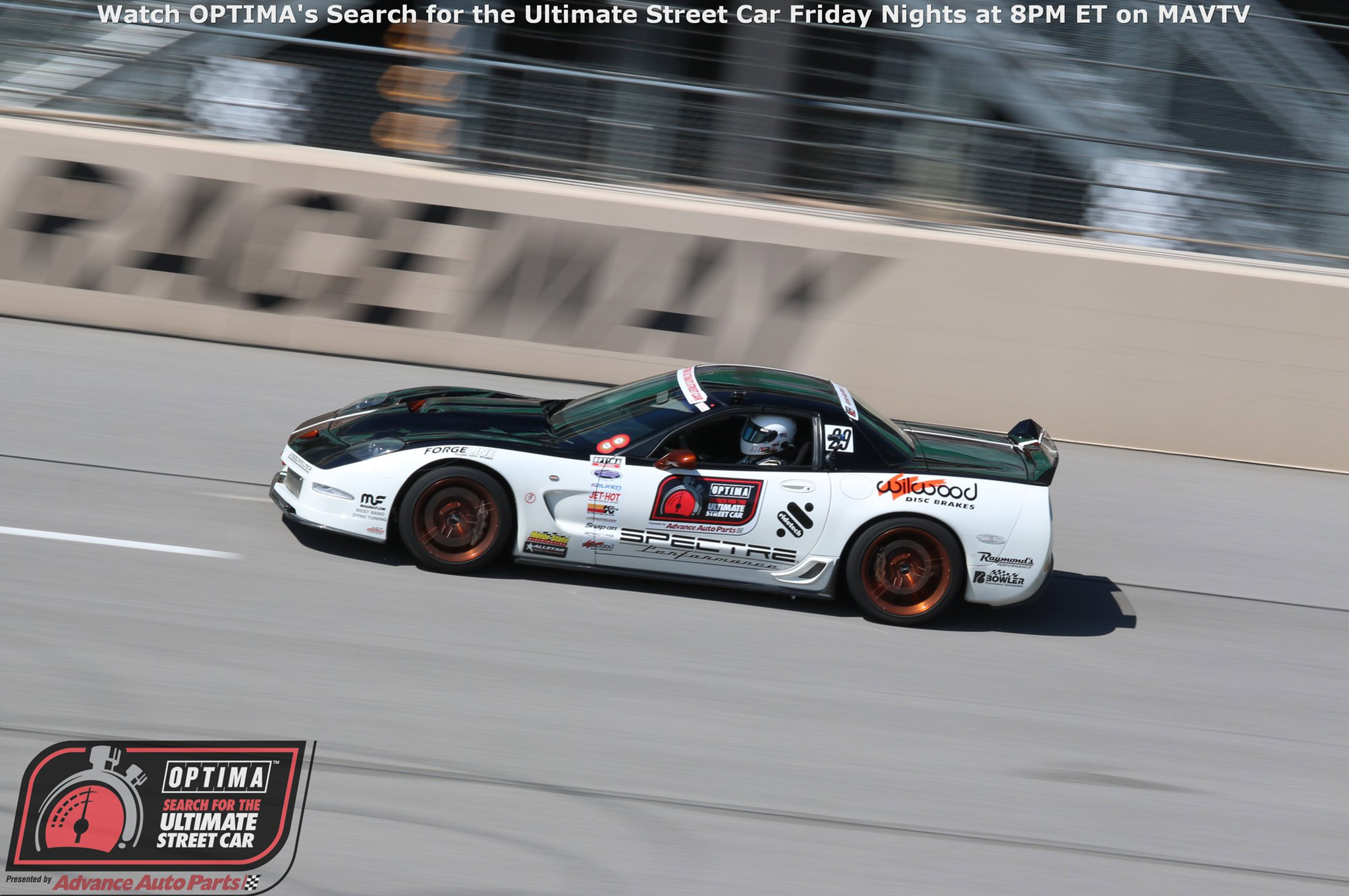 Randy Johnson carried the Chevy flag to the podium in the GTS class, finishing in Third Place behind a pair of Evos in his D&Z Customs-built 2002 Corvette.