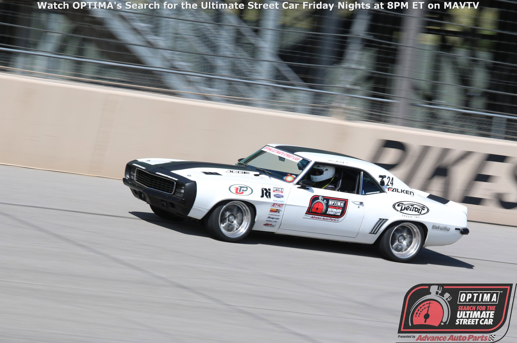Chevrolets absolutely dominated the GTV class, taking the top nine positions, led by Jake Rozelle's 1969 Camaro. The win was Rozelle's second of the season and makes him the only GTV competitor in the top 10, who has not competed in any double-points events.