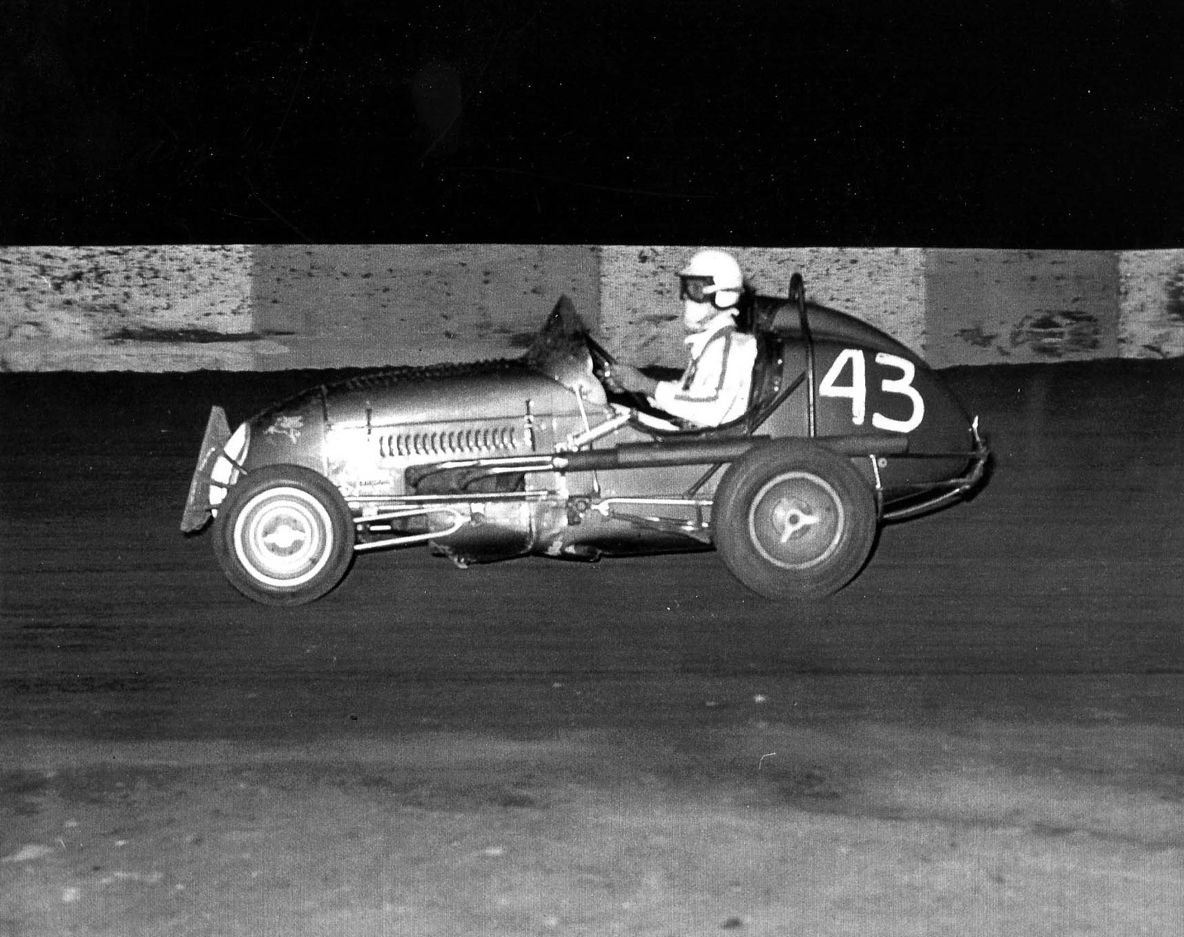 """""""My first Sprint Car race, in El Centro in 1962,"""" says Skip. """"I had to learn pretty fast that when I got spun into the wall it was because I was the new guy. My friend Colby Scroggins said when you go out again in the semi, you run that guy into the wall because it's your first race and everyone is watching you. If you don't put him in the wall, the other bullies will crash you every race."""" Scroggins won the CRA points championship in 1962."""