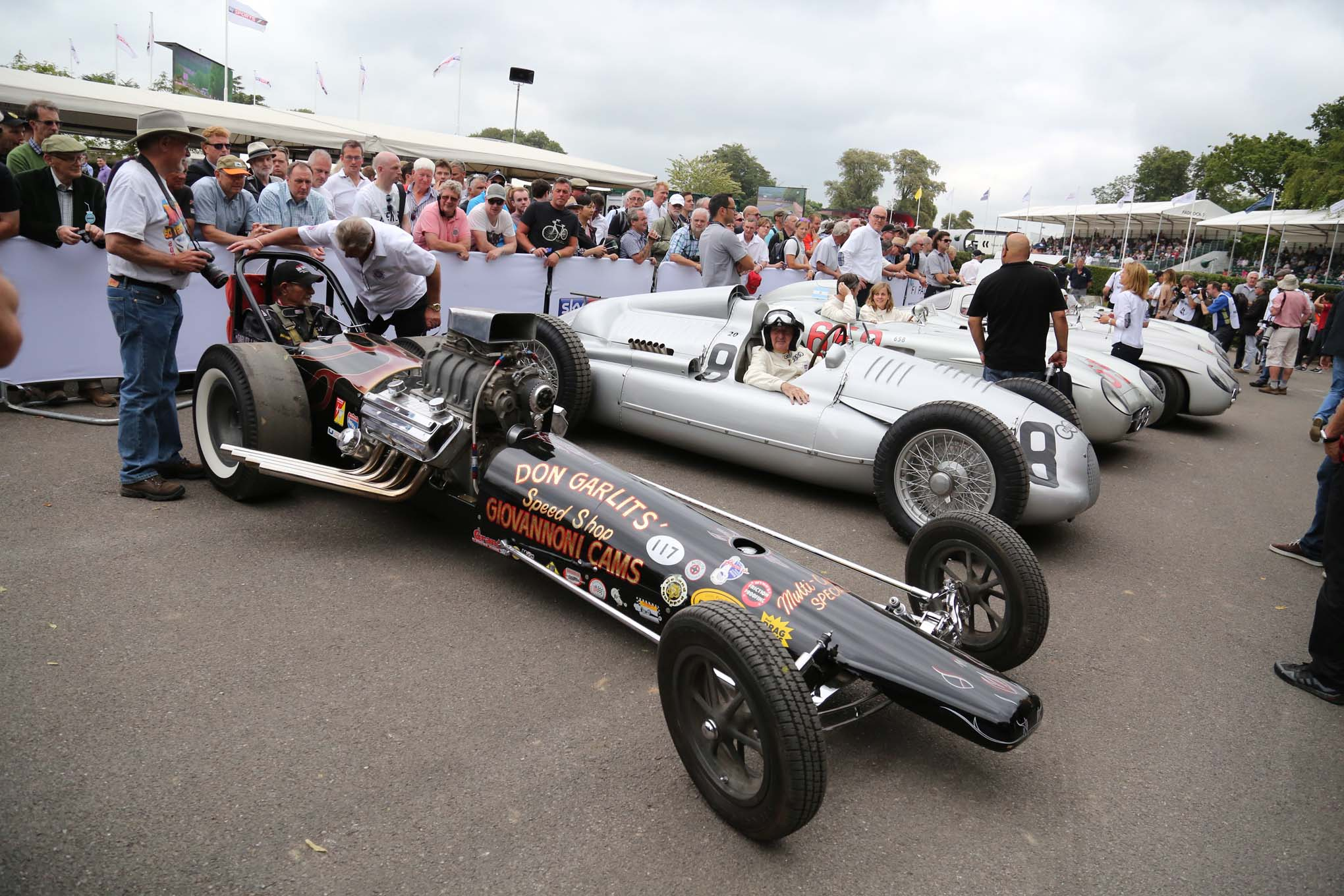 The Goodwood Festival showcases racing cars from all eras and sanctioning bodies.