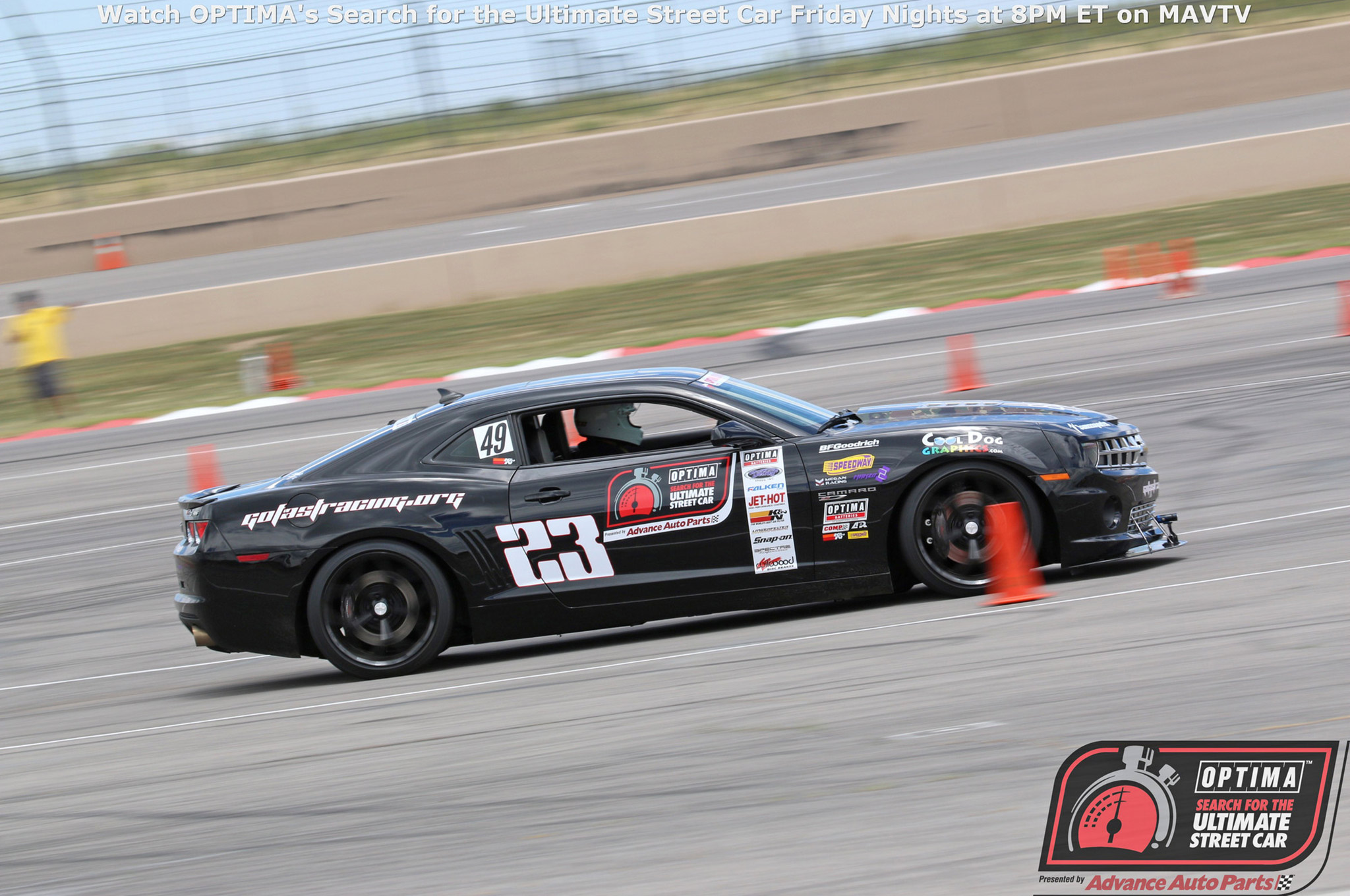 Track time is plentiful at Optima qualifying events, and Marty Clarke made the most of his weekend. In addition to 16 runs in the Detroit Speed Autocross and 17 passes on the Wilwood Speed Stop Challenge, he managed to log 48 laps in the Falken Tire Road Course Time Trial.