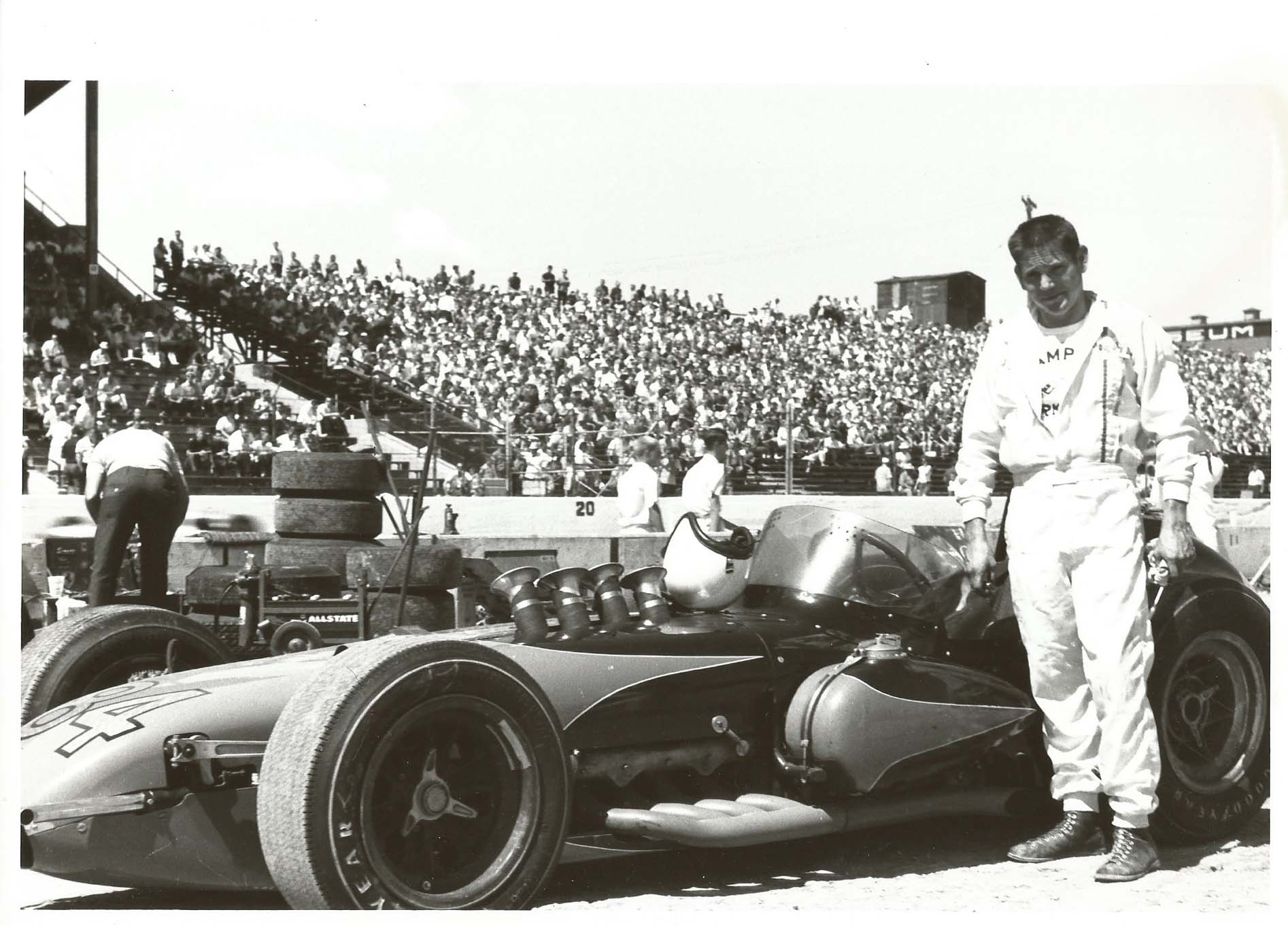 Skip's photo of his slinky roadster taken over a half-century ago makes one wonder why a front engine Indy Car, with today's technology, can't be running the 500. After all, today's front-engined Funny Cars rival rear engine Top Fuel Cars on the dragstrip.