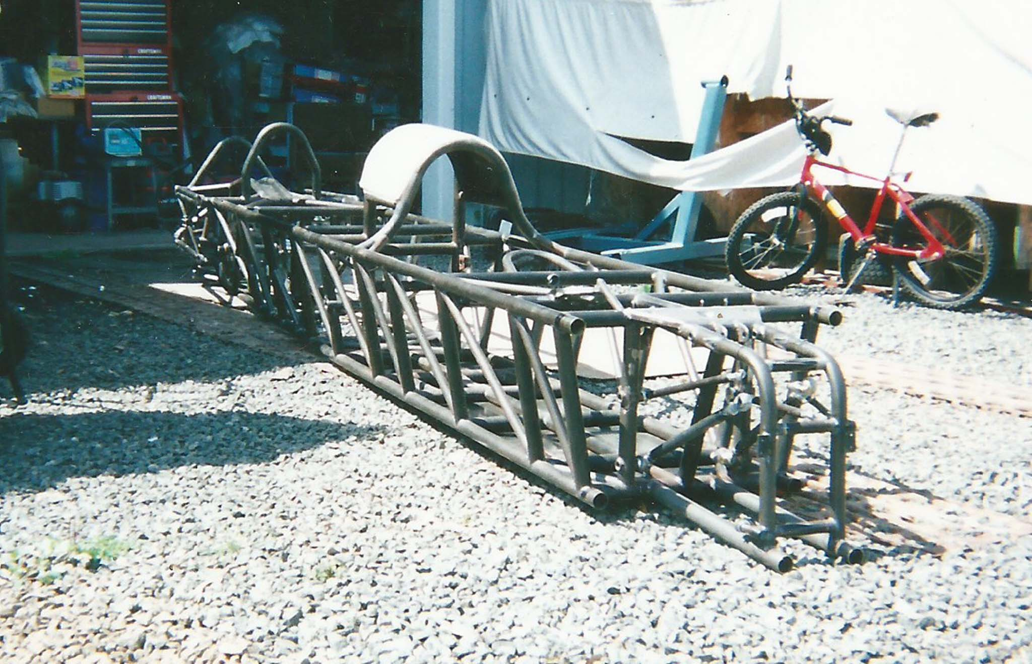 Visualize a Top Fuel dragster chassis, than compare it to Hedrich's chassis, both designed for the 300-plus-mph range. Skip not only designed the chassis, he built it. Though the streamliner did not pass the SCTA tech inspection in 2013, Skip is not a quitter and will be headed back to the Salt Flats.