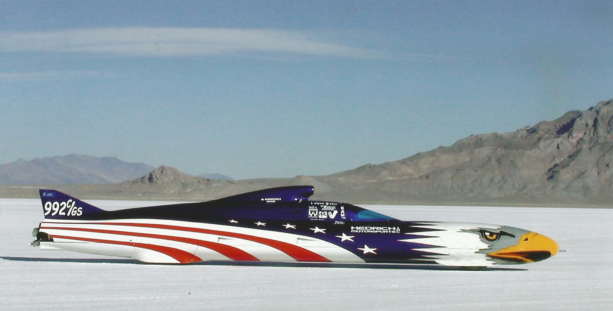 """Skip makes certain that school children see the American Eagle, to reinforce the idea that """"building race cars is not for the uneducated."""" Plus, he uses the Eagle's appearances to raise money for The North San Diego County Wounded Warriors."""