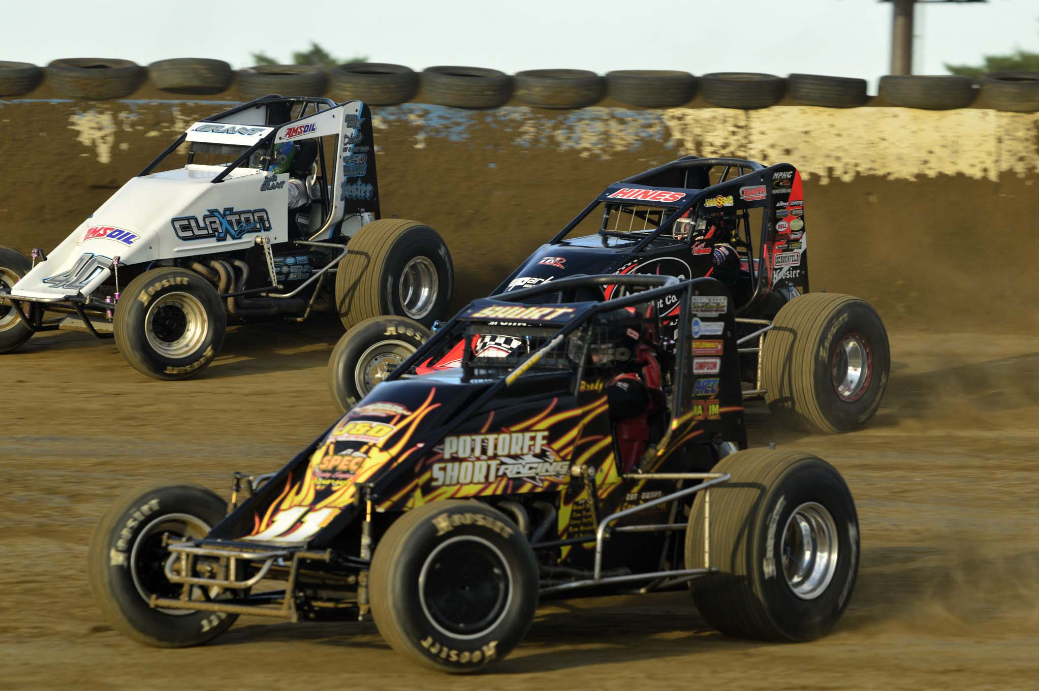 There is no shortage of action on the smaller tracks for USAC. Teams seem to prefer the smaller dirt tracks as they tend to be easier on equipment.
