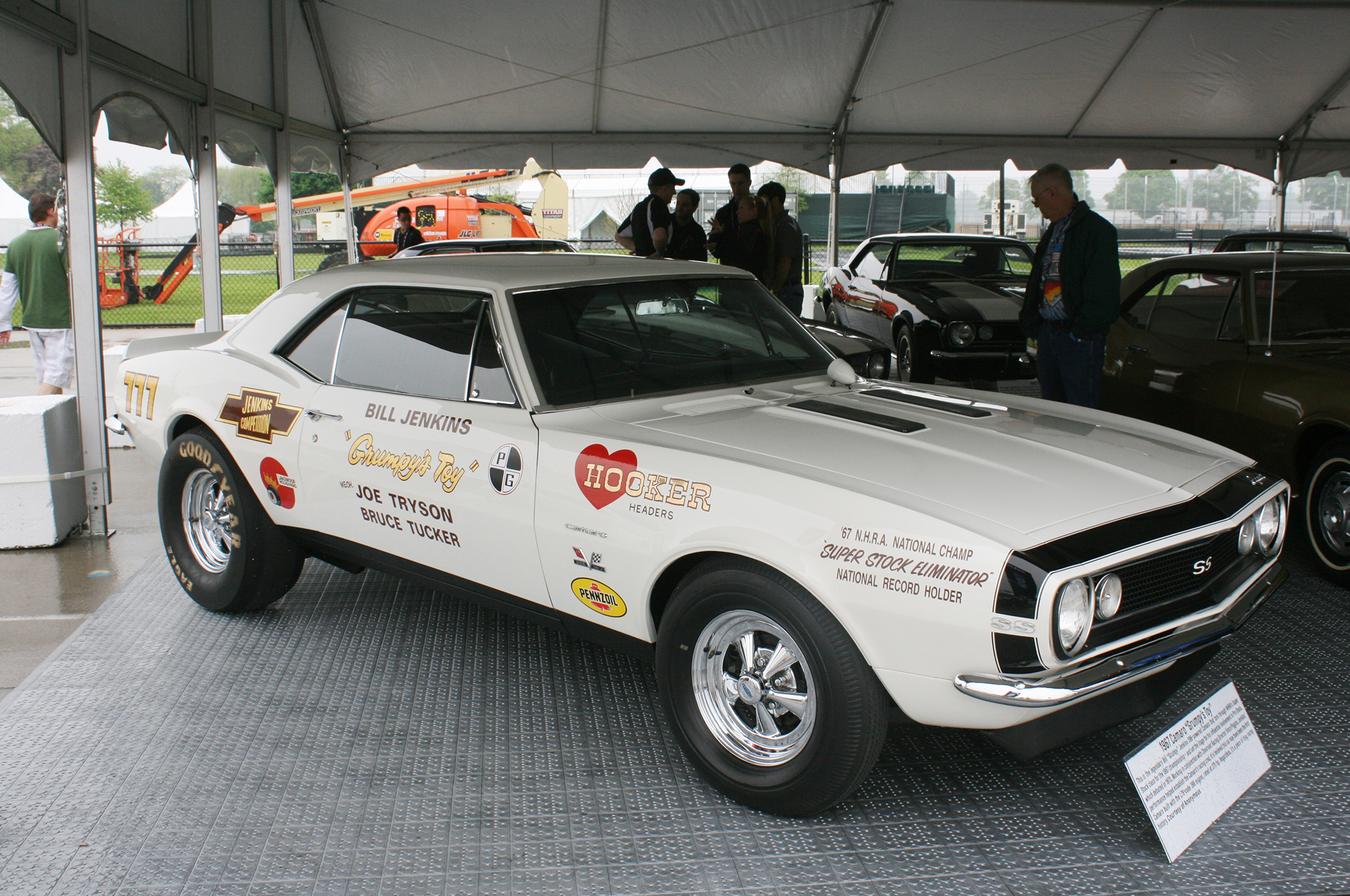 """Working in conjunction with Chevrolet Racing Director Vince Piggins, Bill """"Grumpy"""" Jenkins helped establish the Camaro's racing cred on the dragstrip. It is believed this car may have been the first Camaro built with the L78-code 396 engine, rated at 375 hp. Regardless, it's a piece of drag racing history."""