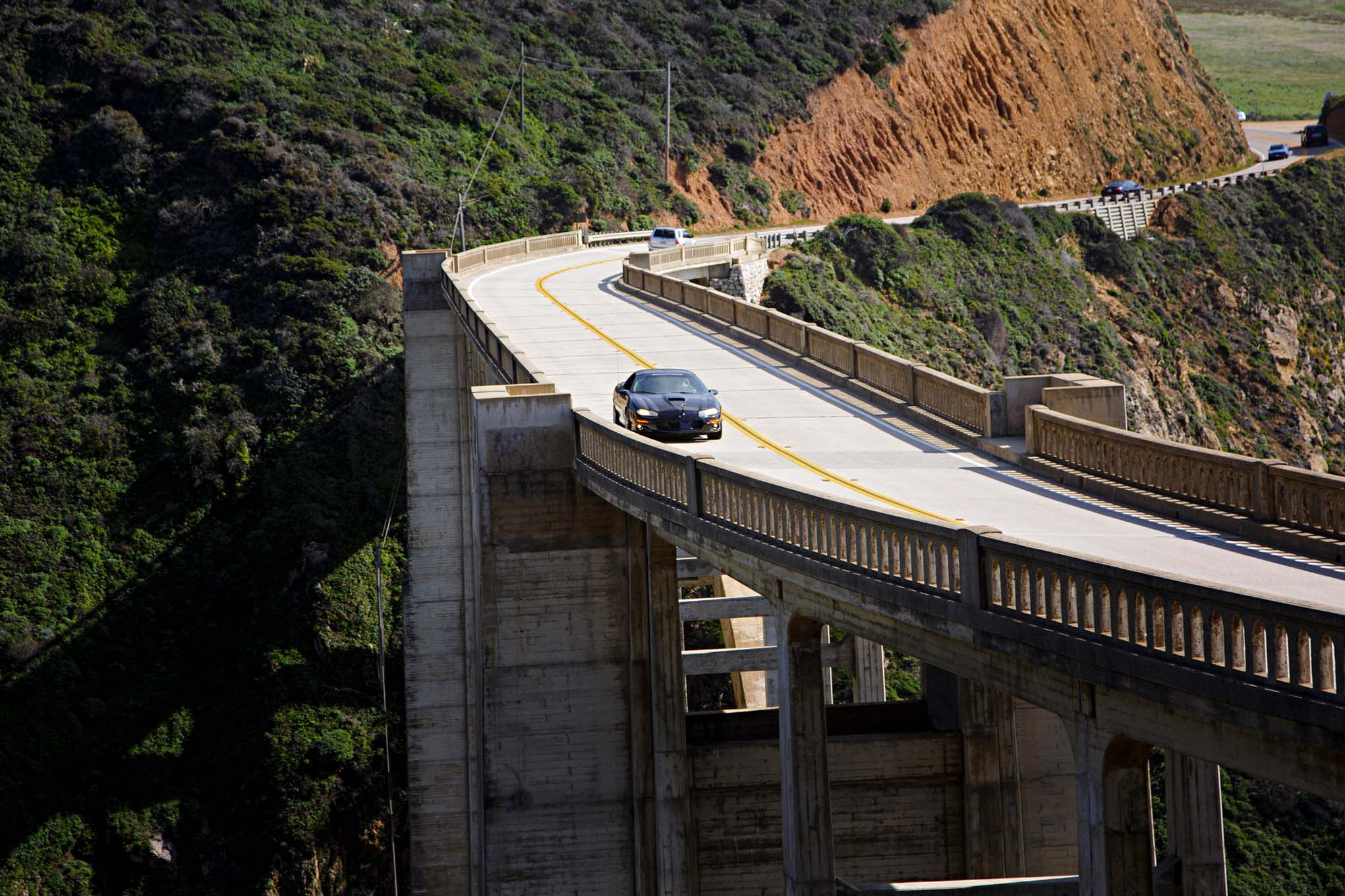 On the tail end of our Highway 1 drive we crossed Bixby Bridge, one of the most photographed structures on the route, and at this point we knew the hotel was mere miles away and we were ready to relax.