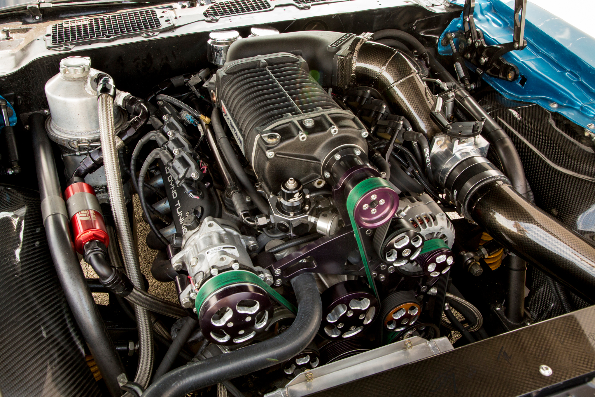 Under the hood of the 1980 Pontiac lived a West Bend Dyno-tuned 416ci LS. With some help from the Lysholm supercharger and a healthy diet of E85 fuel, it cranks out more than 1,000 horsepower.