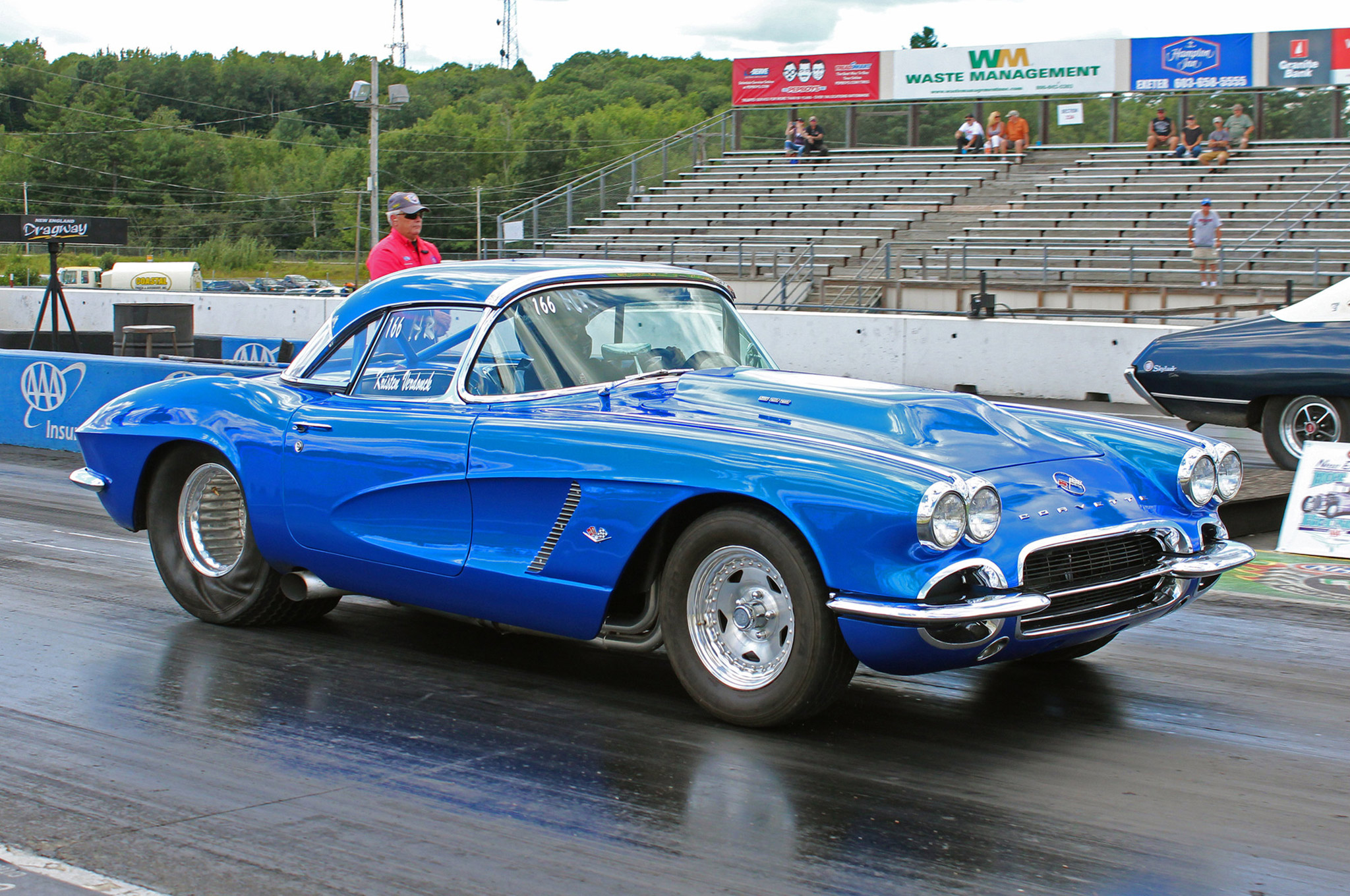 In Hot Rod Eliminator, Kristen Verdonck of Salem, New Hampshire, went through two rounds of eliminations with this beautiful mid-11-second 1962 Vette.